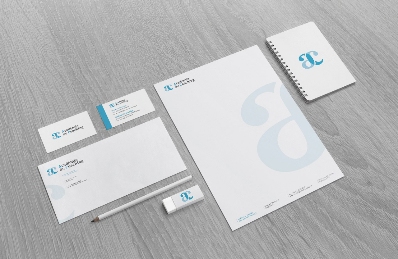 academie-du-coaching-logo-carte-enveloppe-entete-creation-communication-caconcept-alexis-cretin-graphiste