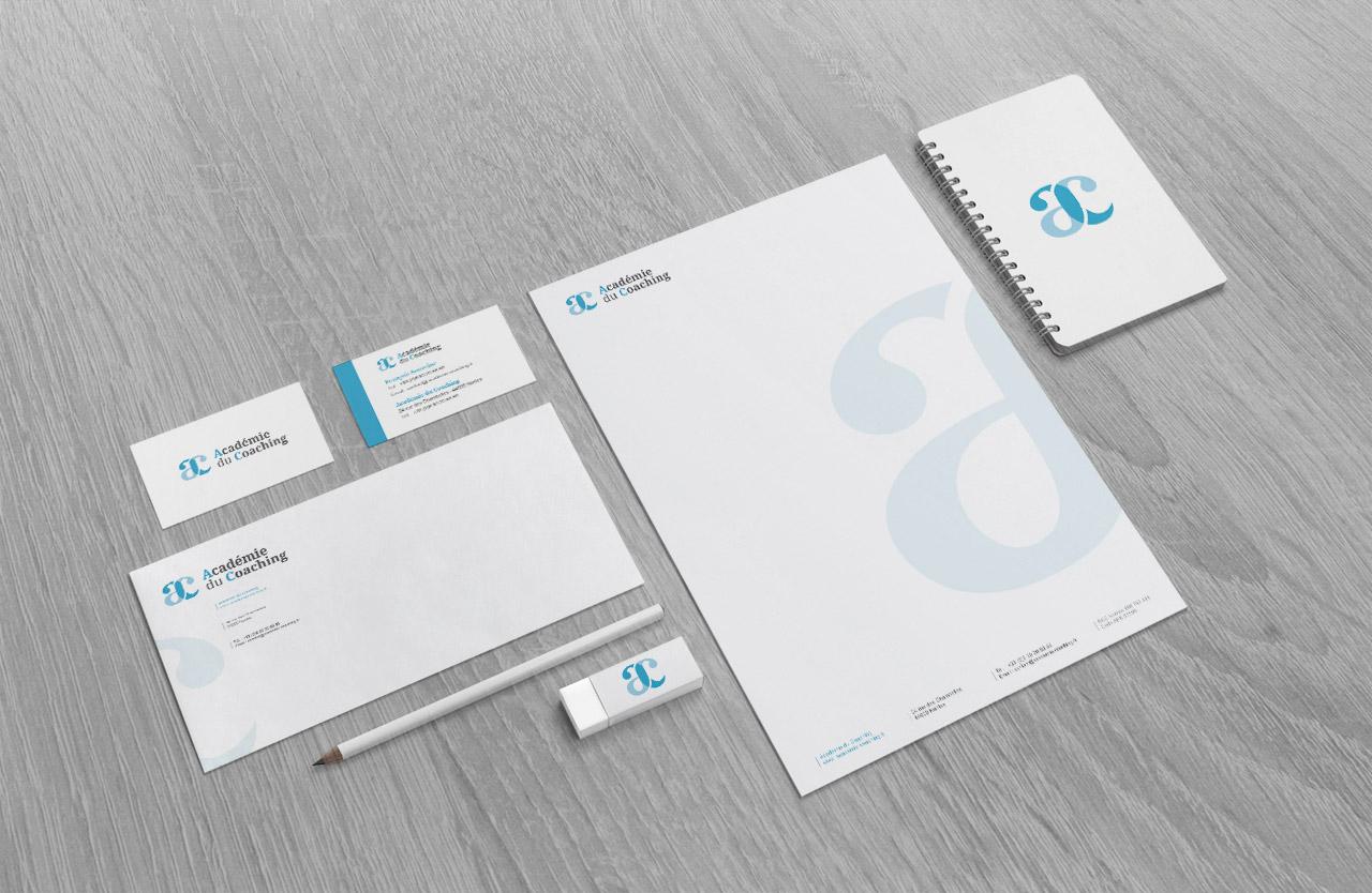 academie-du-coaching-logo-carte-enveloppe-entete-creation-communication-caconcept-alexis-cretin-graphiste