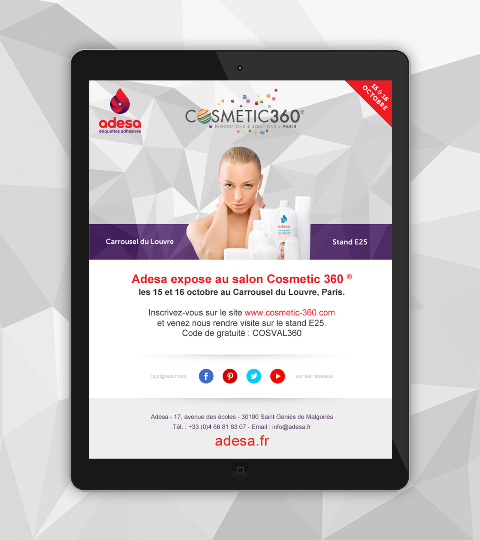adesa-creation-newsletter-cosmtiques-salon-cosmetic-360-communication-caconcept-alexis-cretin-graphiste