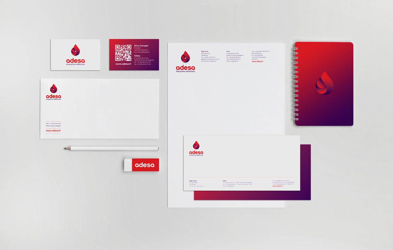 adesa-logo-carte-visite-correspondance-entete-creation-communication-caconcept-alexis-cretin-graphiste