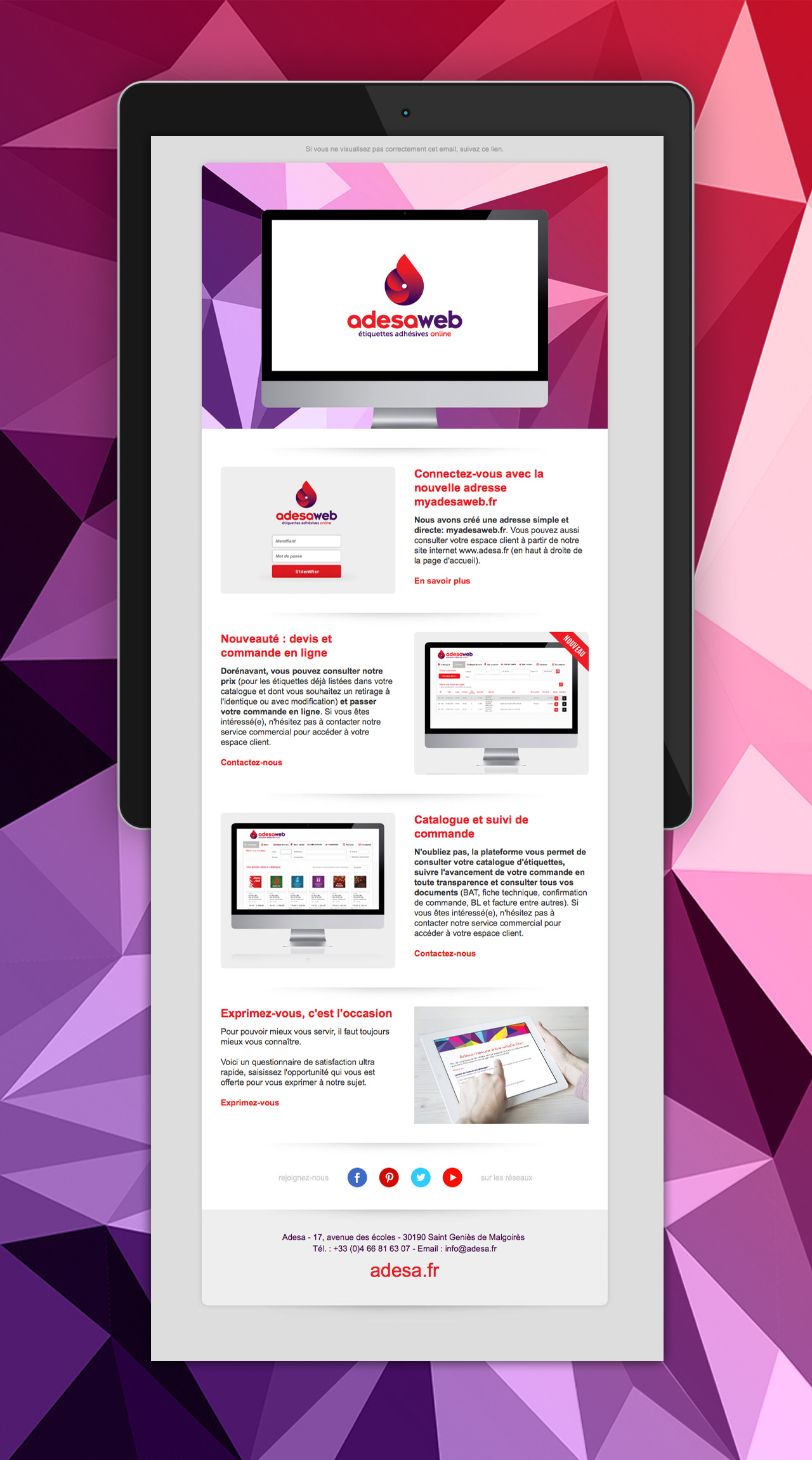 adesa-newsletter-design-creation-communication-caconcept-alexis-cretin-graphiste