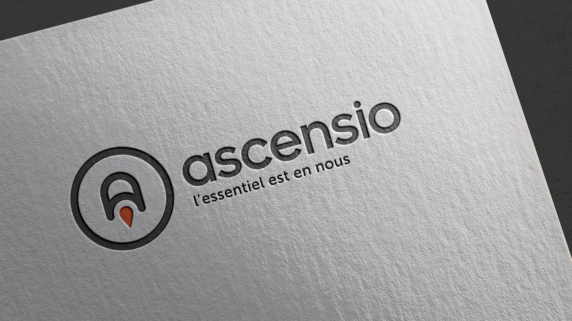 Création logo identité visuelle Ascensio - Graphiste Montpellier