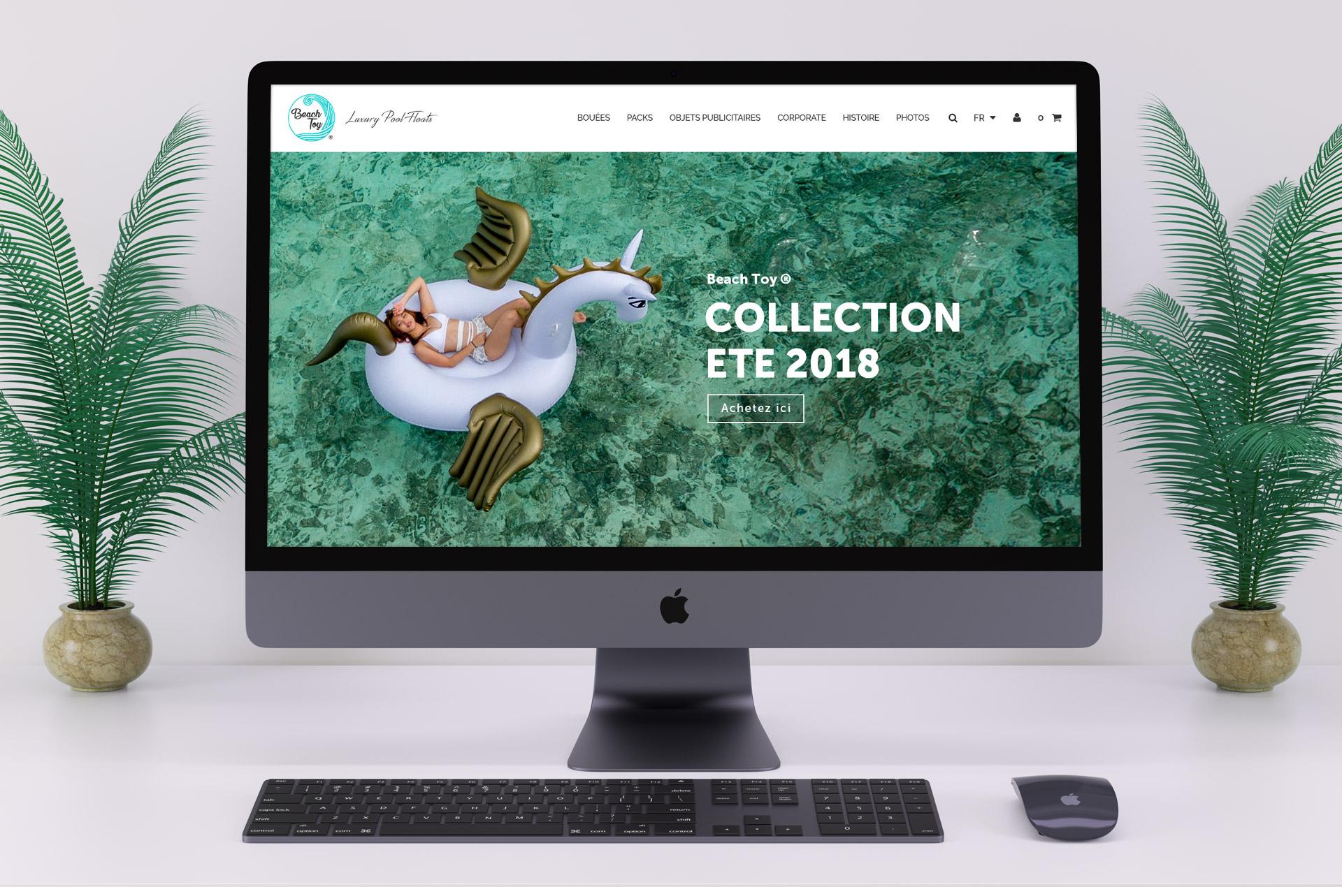 Création du site web e-commerce Beach Toy