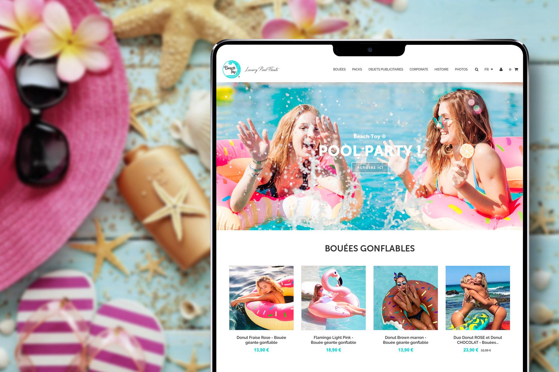 Création boutique e-commerce bouées gonflables Beach Toy