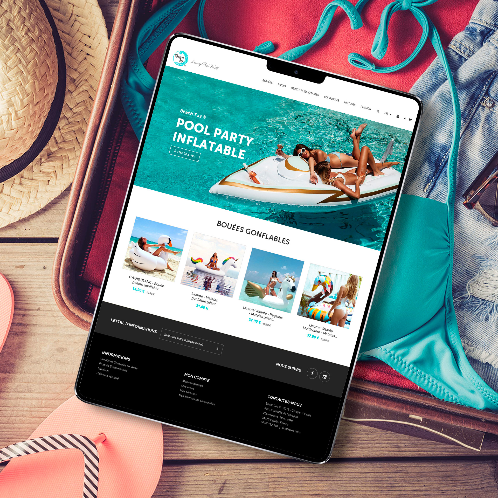 Création du site web ecommerce responsive design Beach Toy