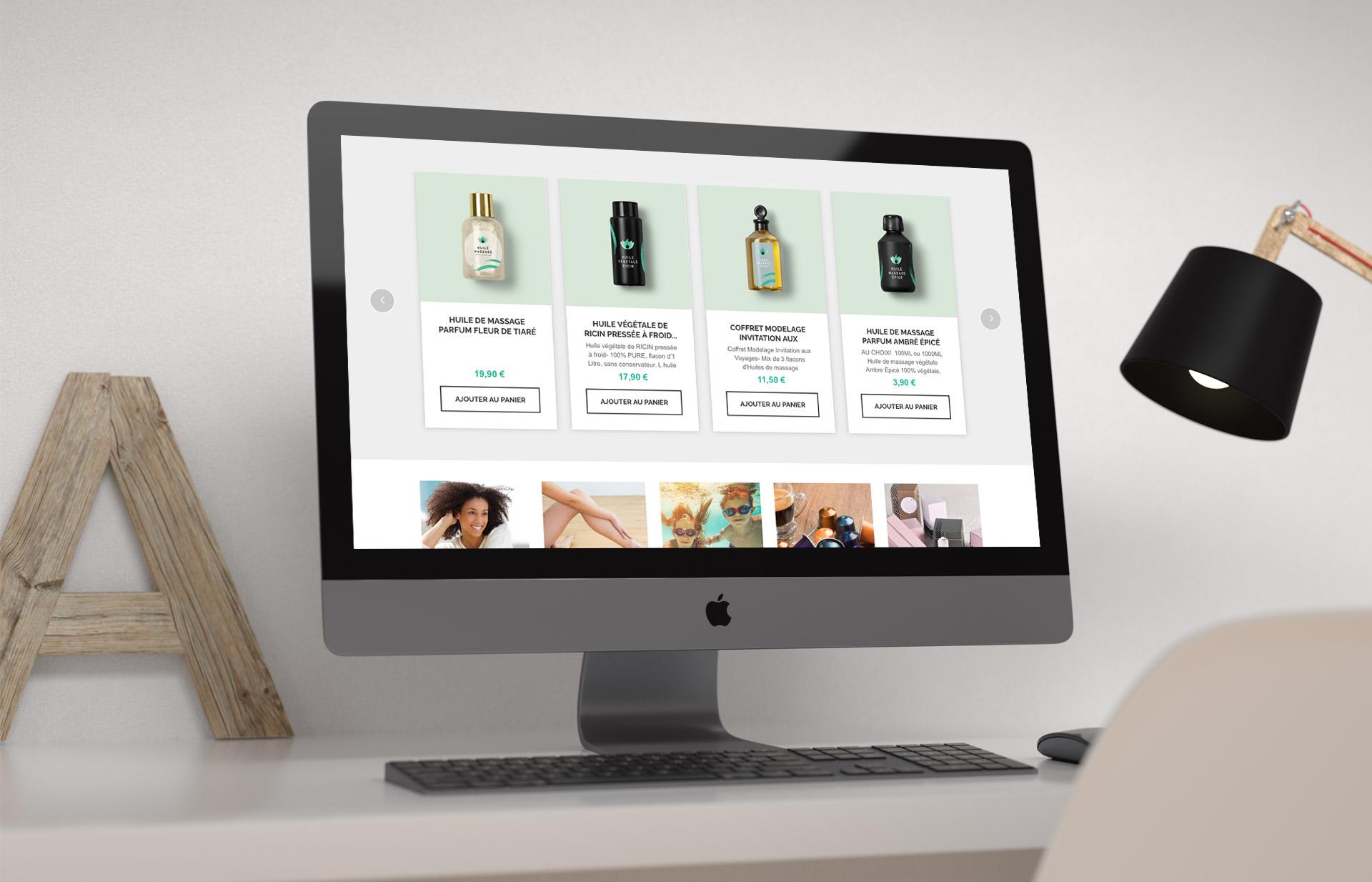 Création boutique e-commerce cosmétique