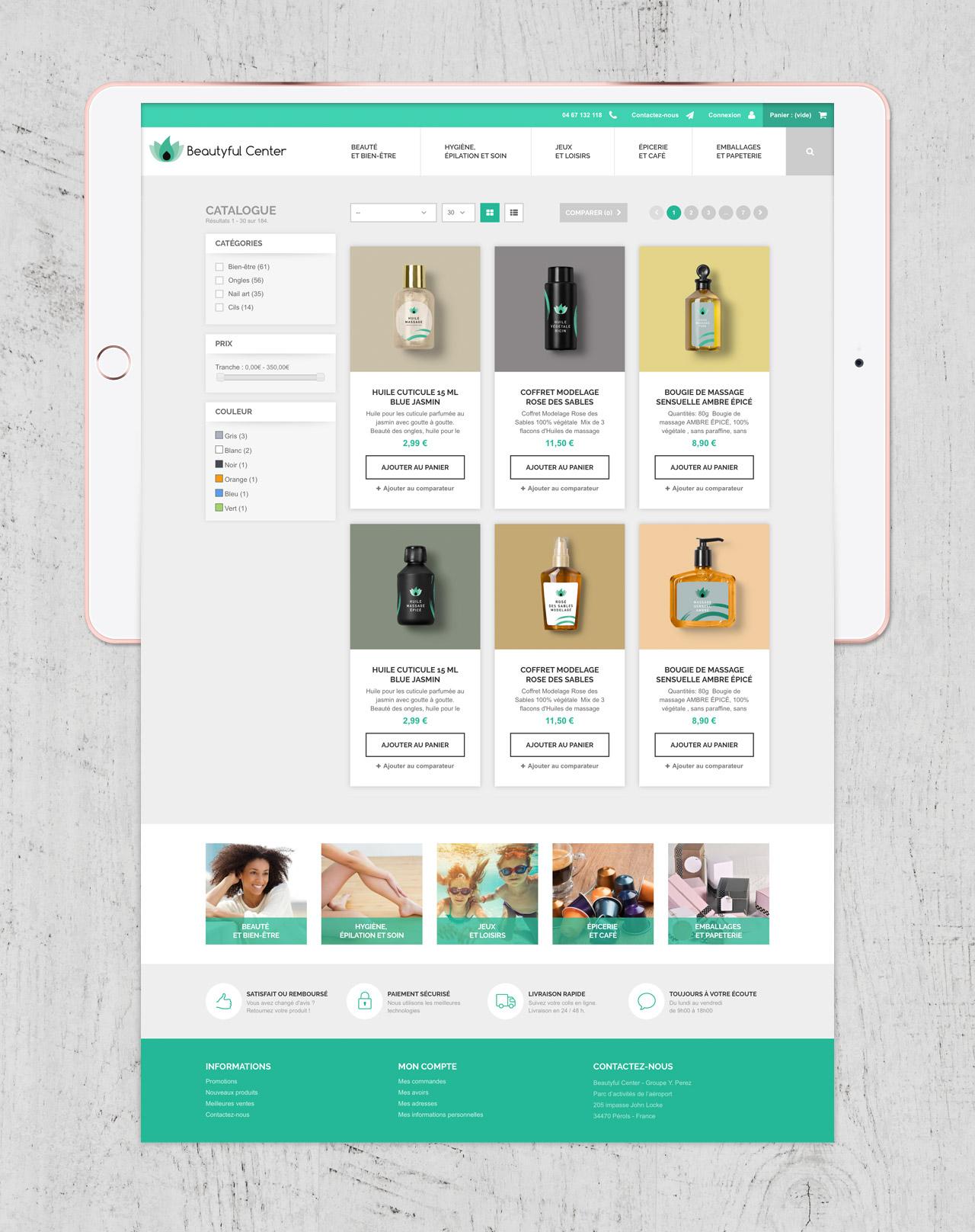 Création site e-commerce page catégorie