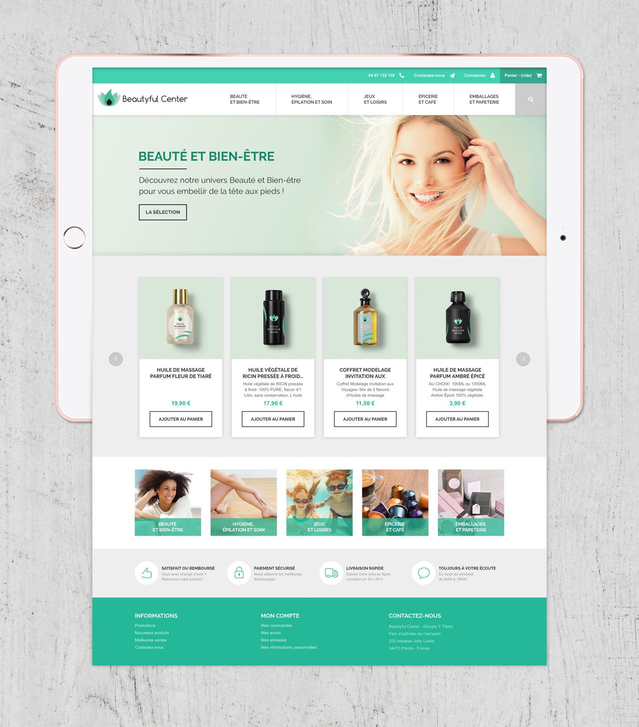 Création site e-commerce page home