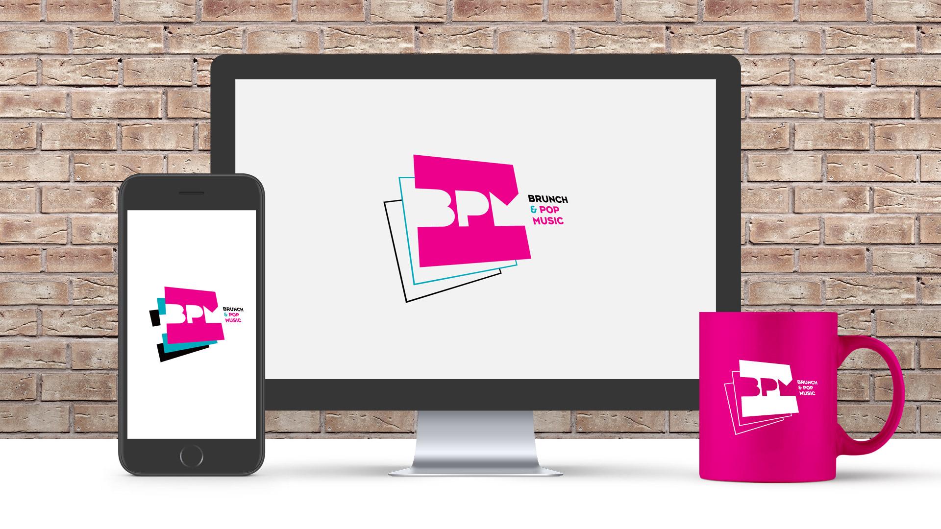 Creation charte graphique showcase BPM Pop Music - Paris Montpellier