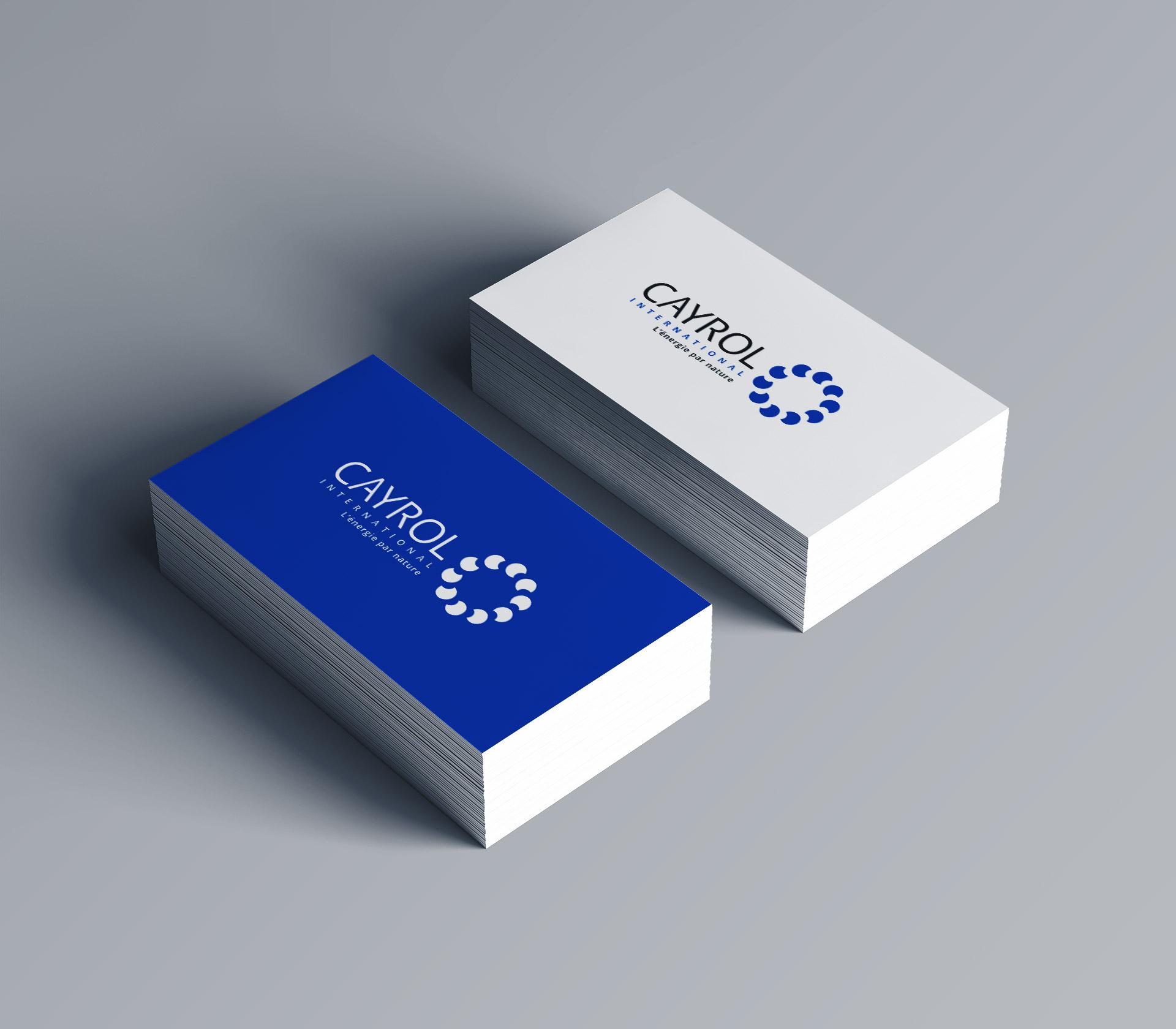Création logo carte de visite producteur énergie renouvelable