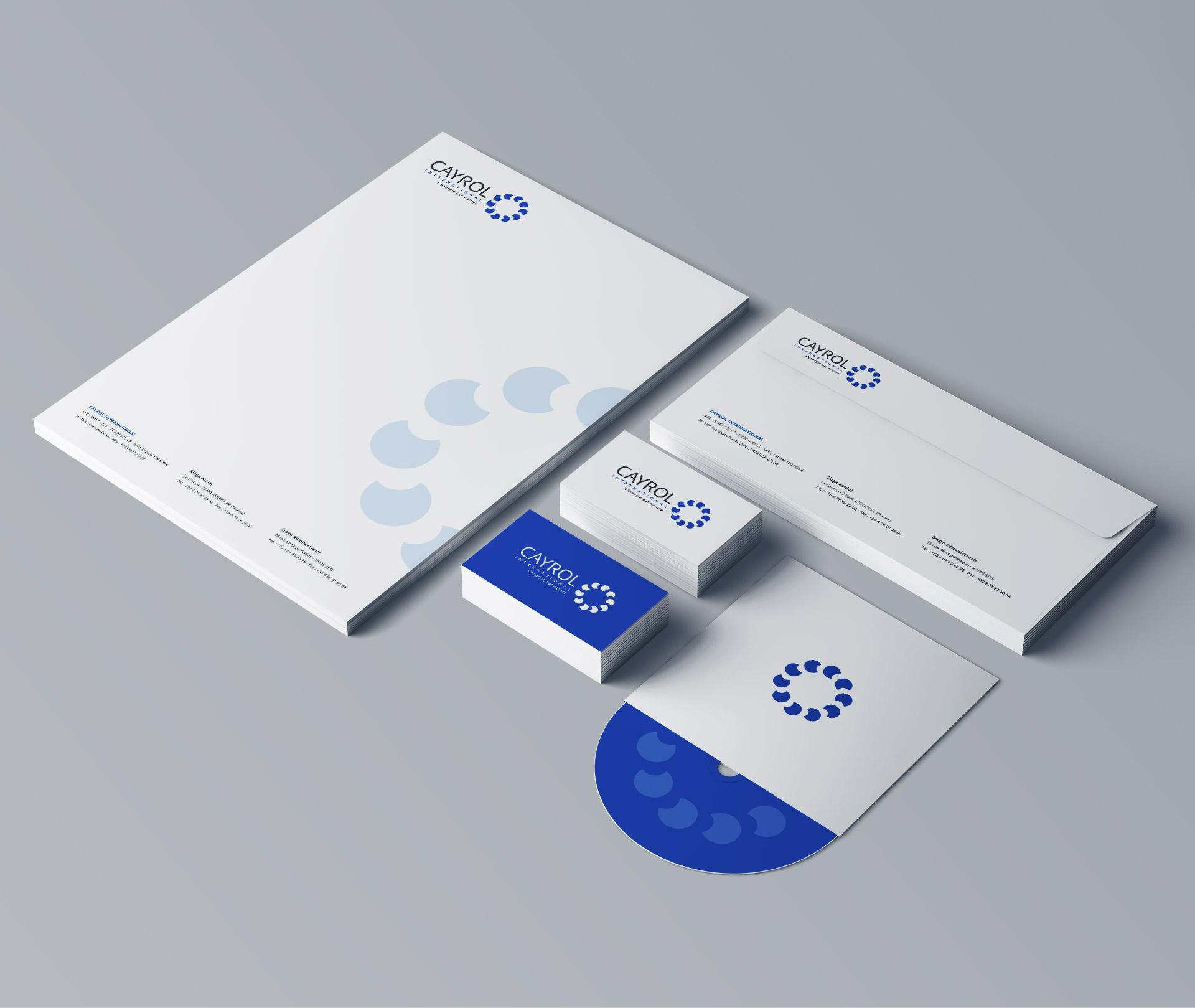 Création logo ligne de papeterie producteur énergie renouvelable