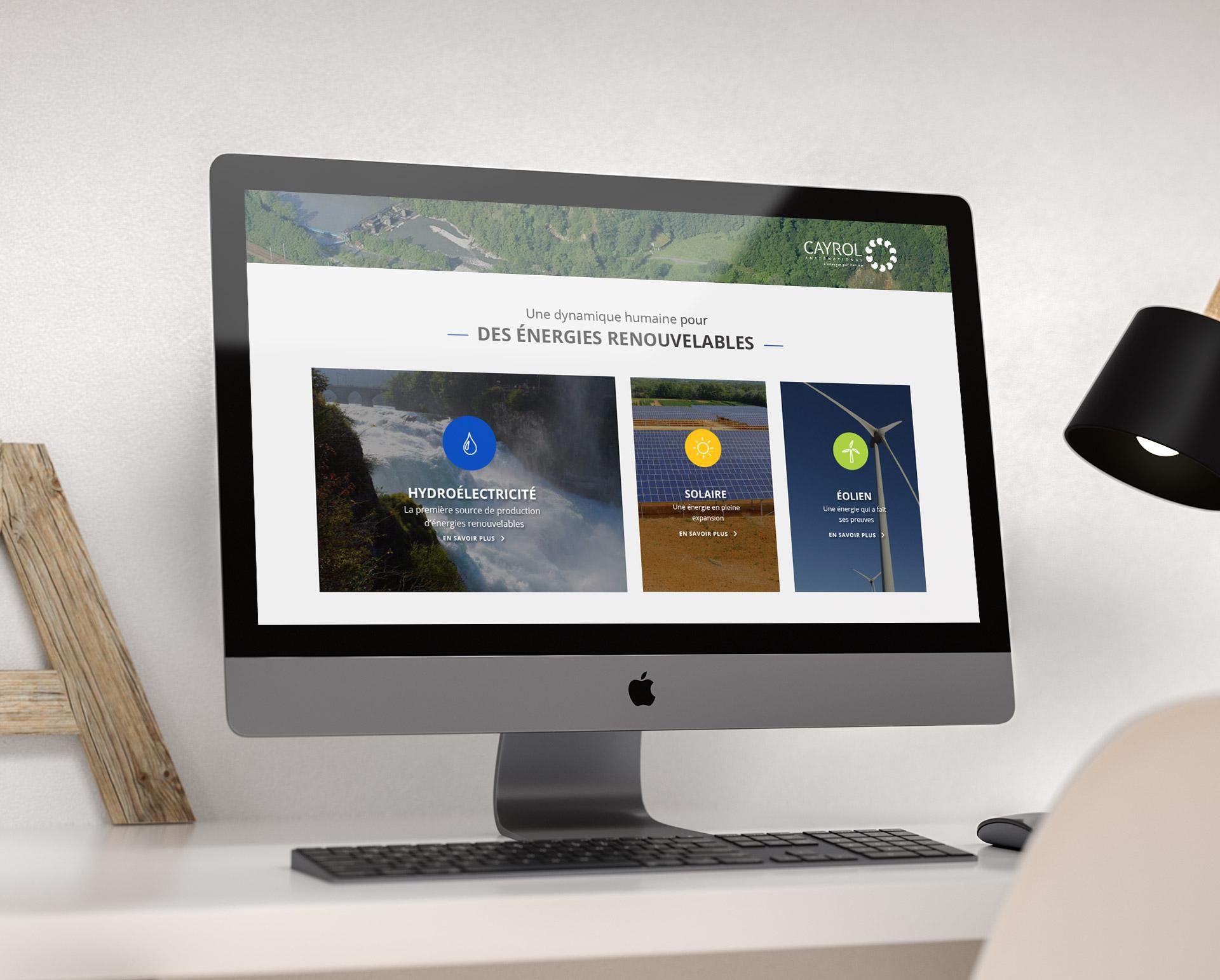 Création web design site internet énergies renouvelables