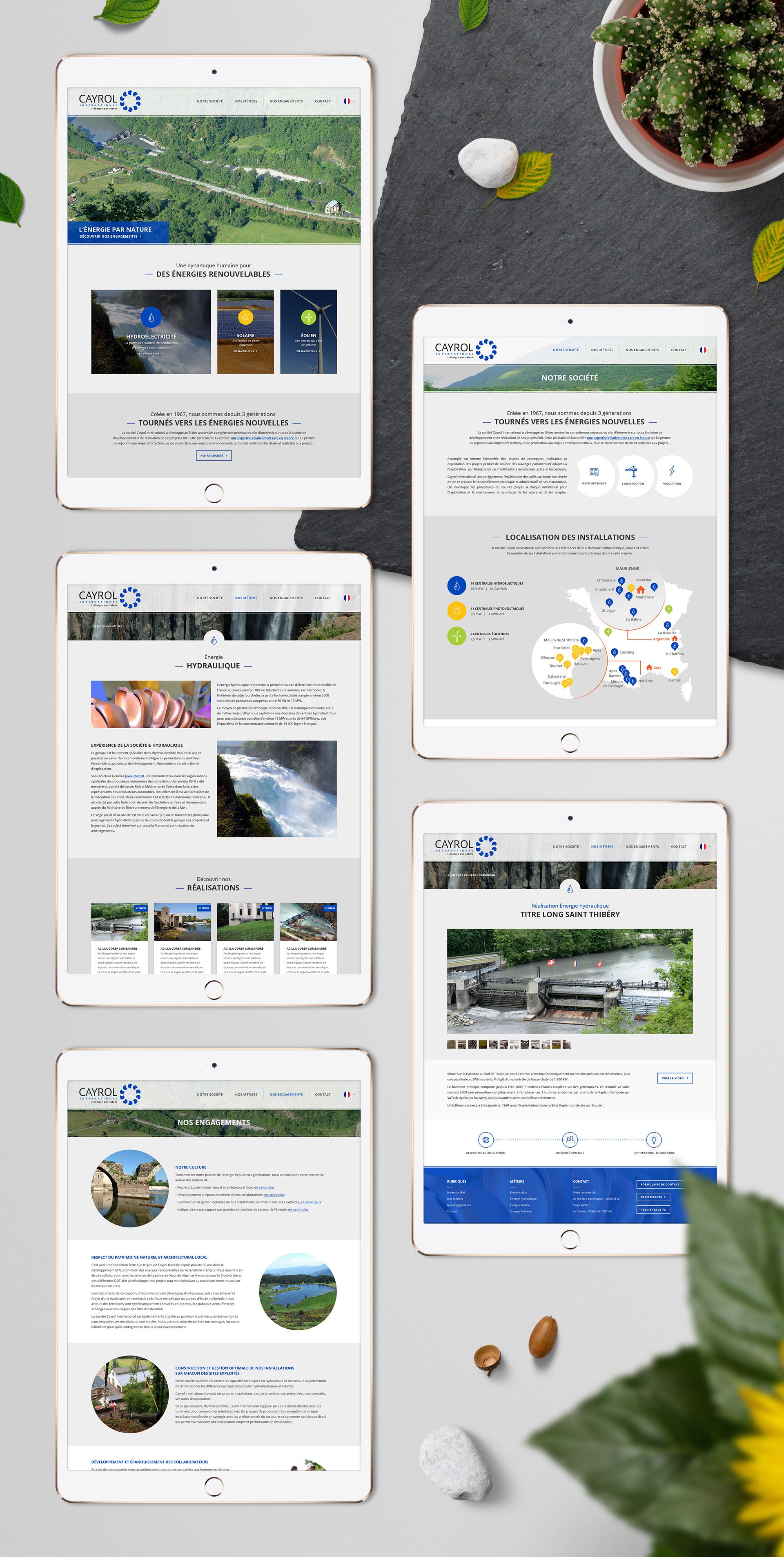 Création site web responsive design énergie naturelle renouvelable