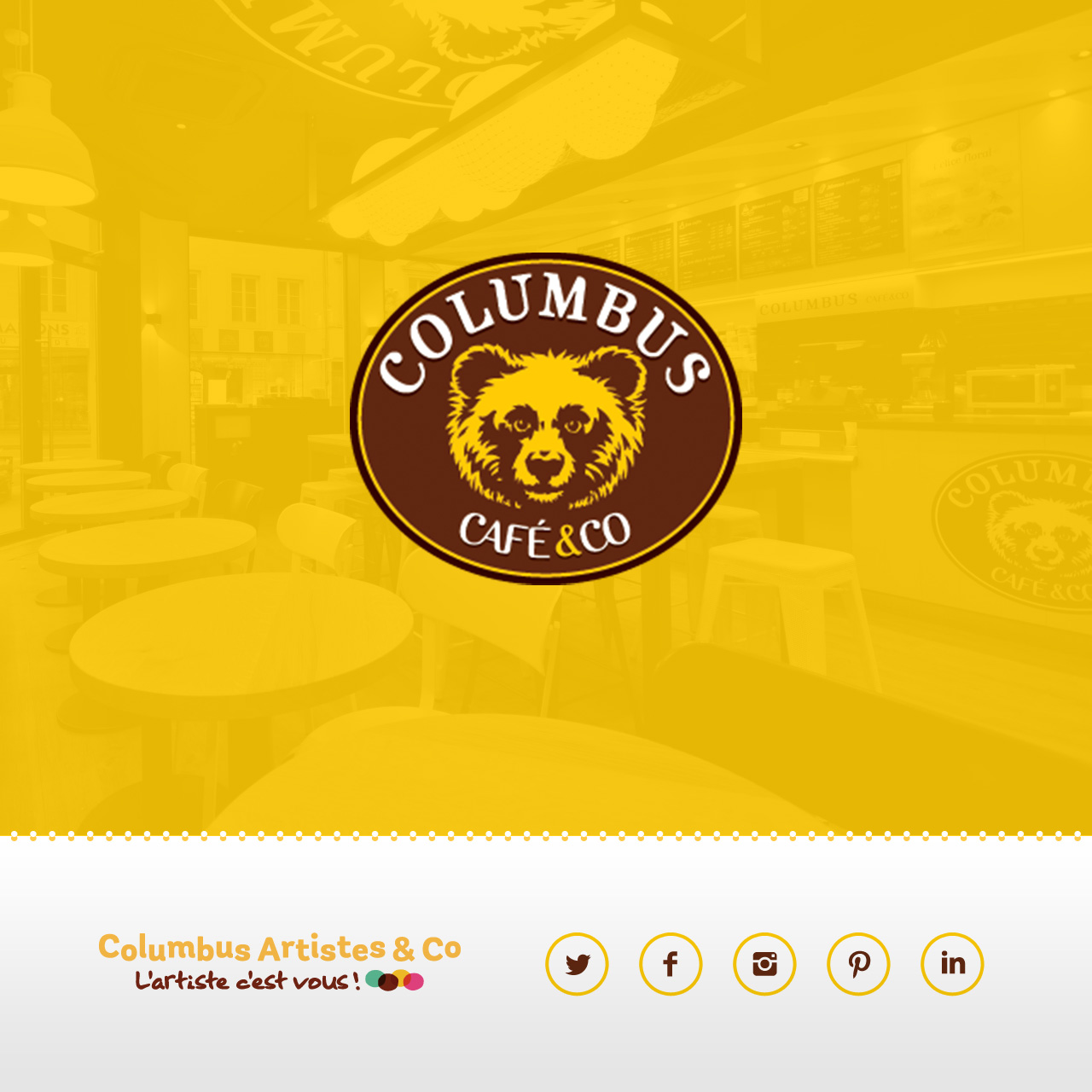 Creation outils marketing pour Columbus Café