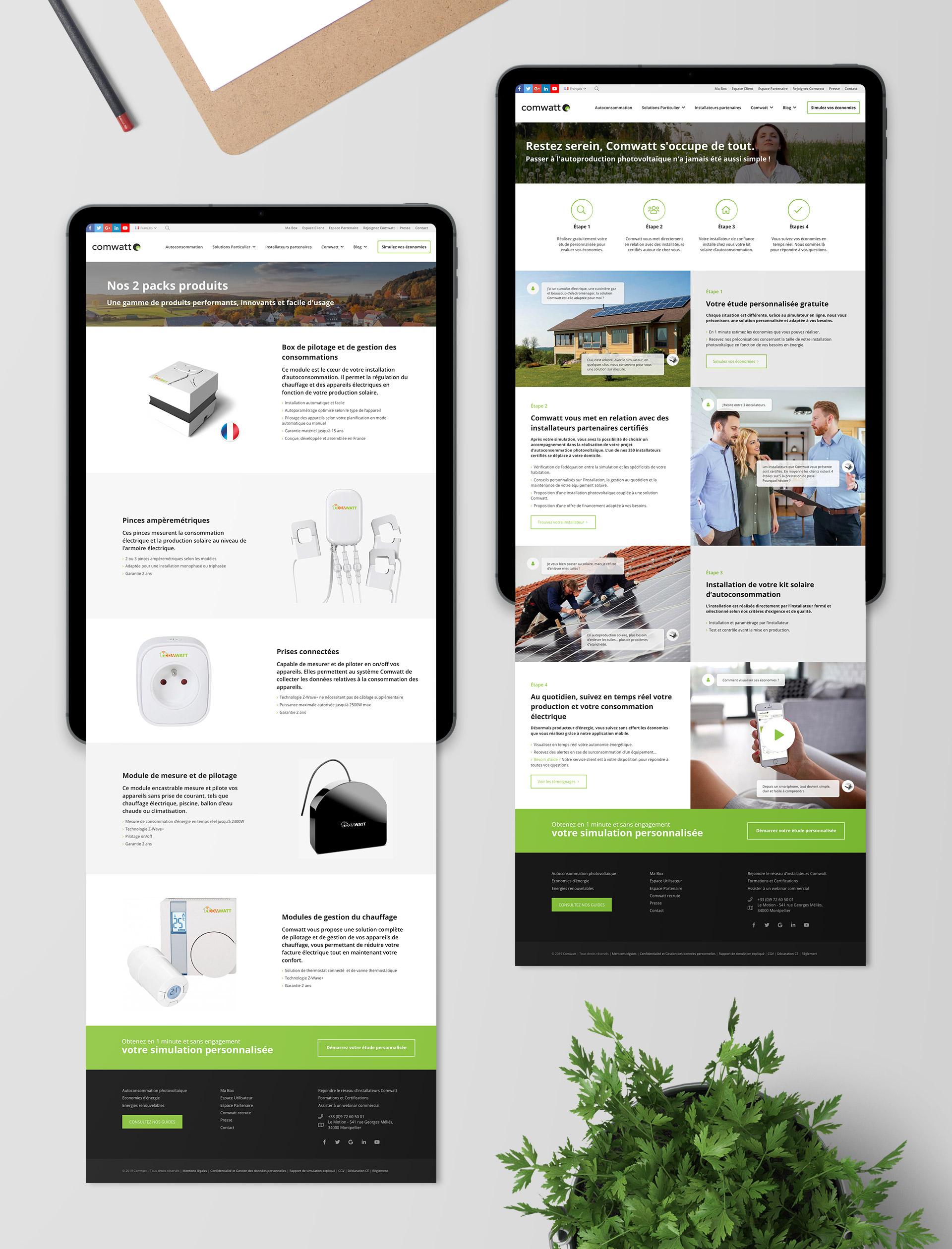 creation site web autoconsommation solaire