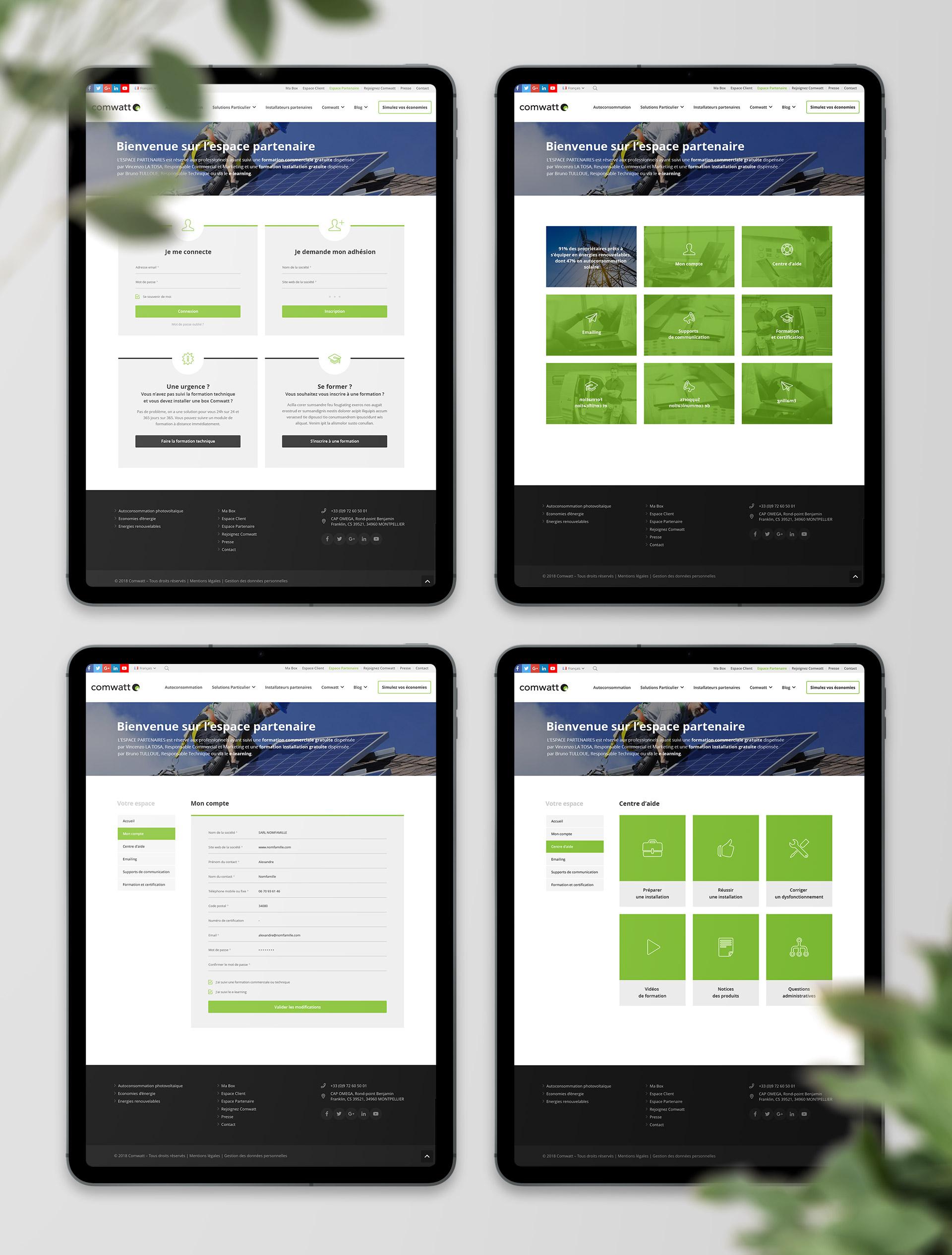 realisation du web design espace client autoconsommation solaire photovoltaique