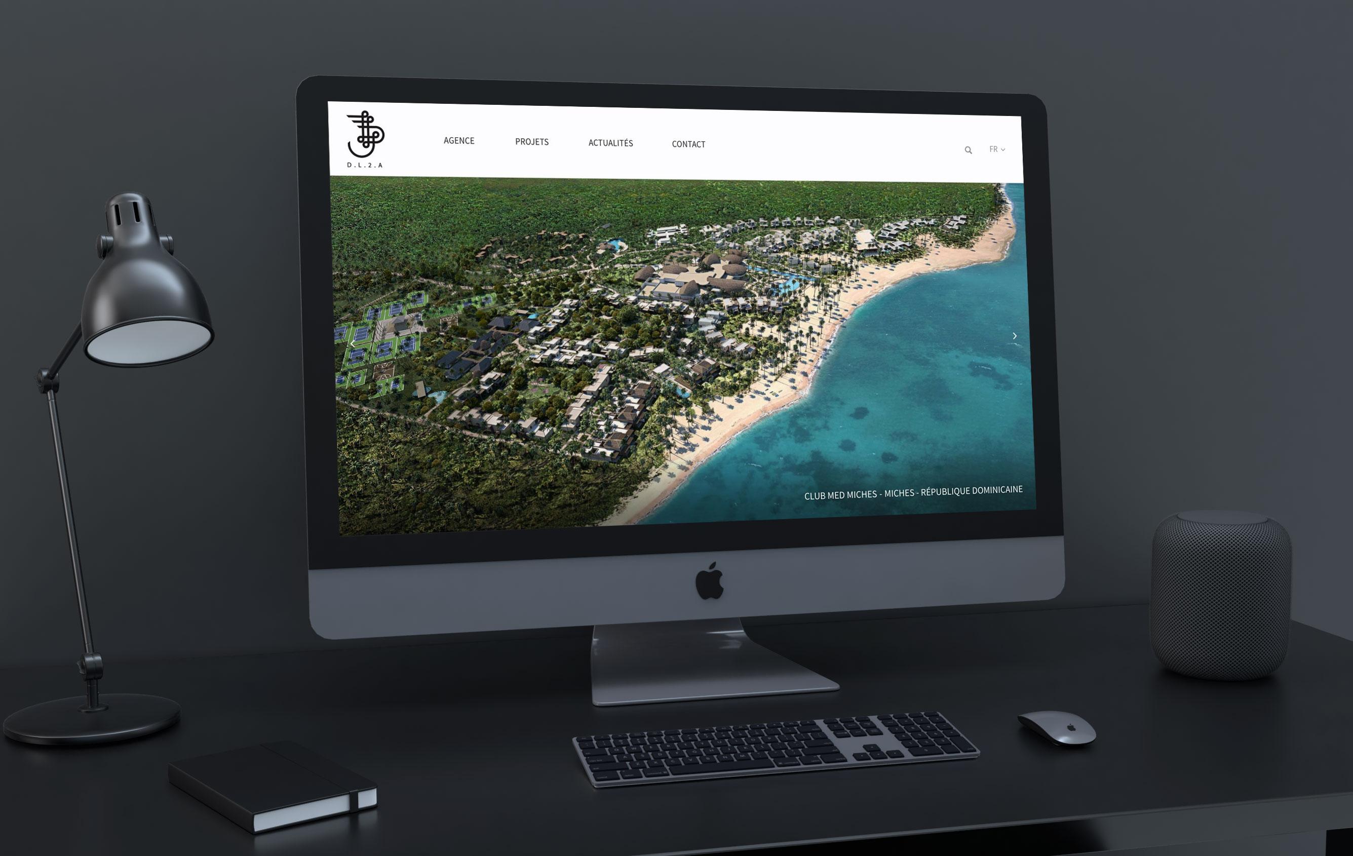 Création site internet architectes architecture intérieure haut de gamme