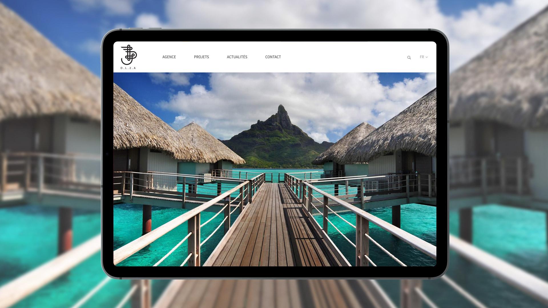 Réalisation site web architectes architecture intérieure Paris