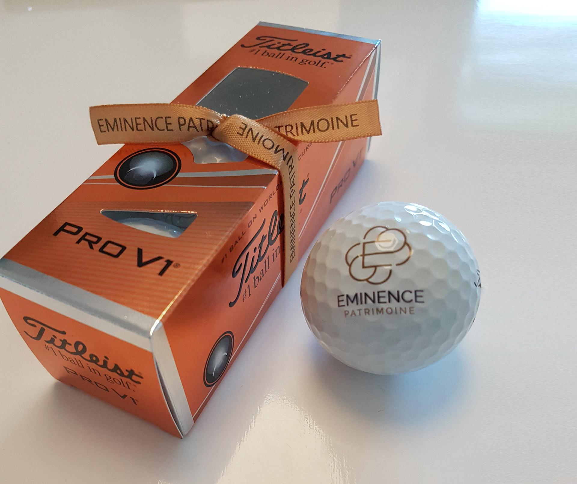 création balle golf logo titleist pro v1 graphiste montpellier