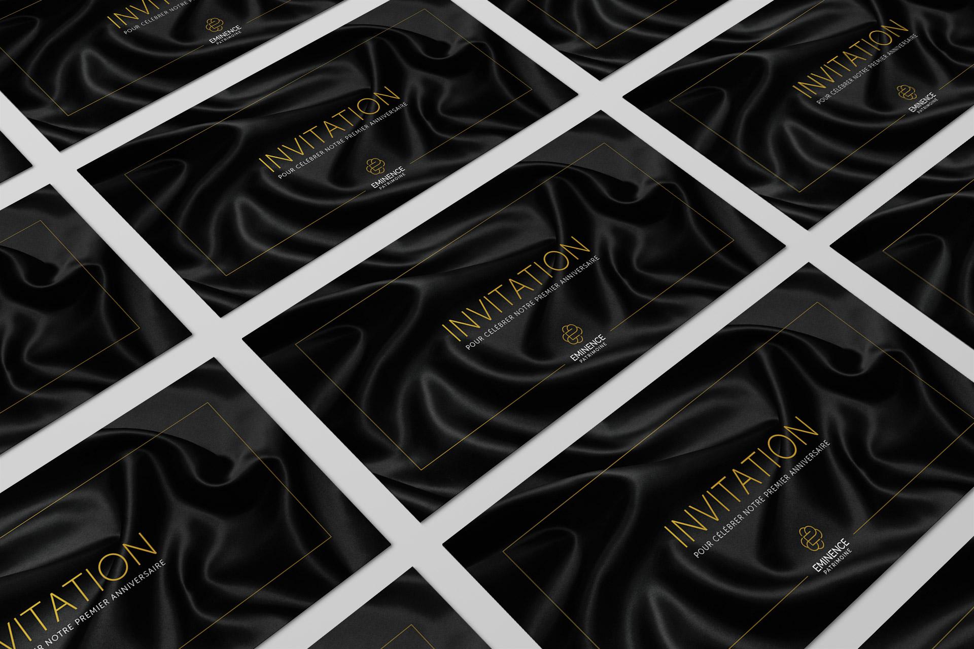 Creation cartes invitation cabinet gestion patrimoniale montpellierain