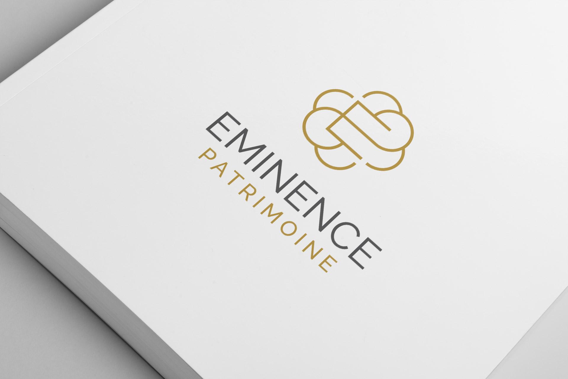Creation logo cabinet gestion patrimoniale Montpellier Eminence Patrimoine