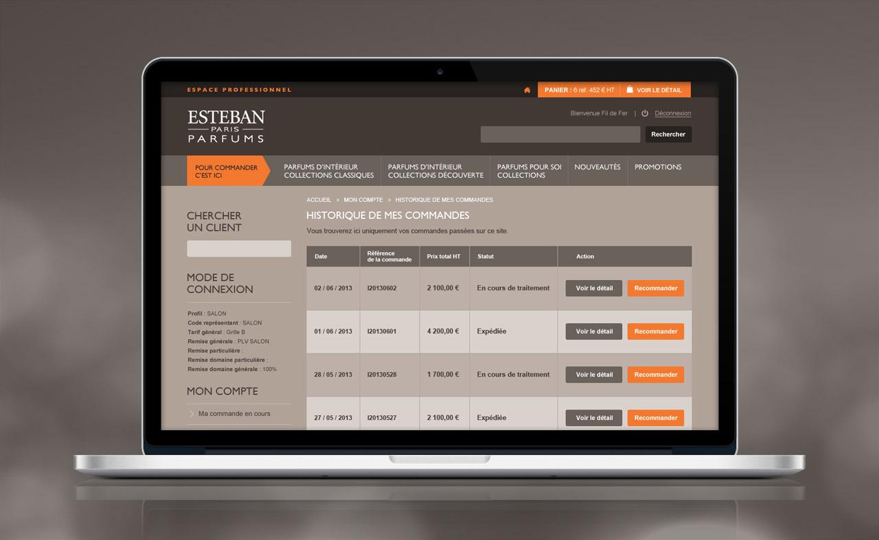 esteban-professionnel-site-internet-hitorique-commandes-creation-communication-caconcept-alexis-cretin-graphiste