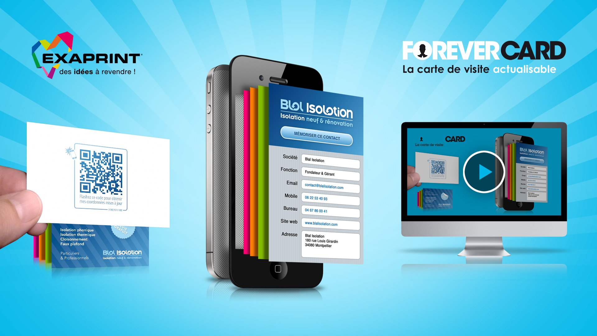 Exaprint Forevercard Creation Concept Visuel Mailing Site Communication