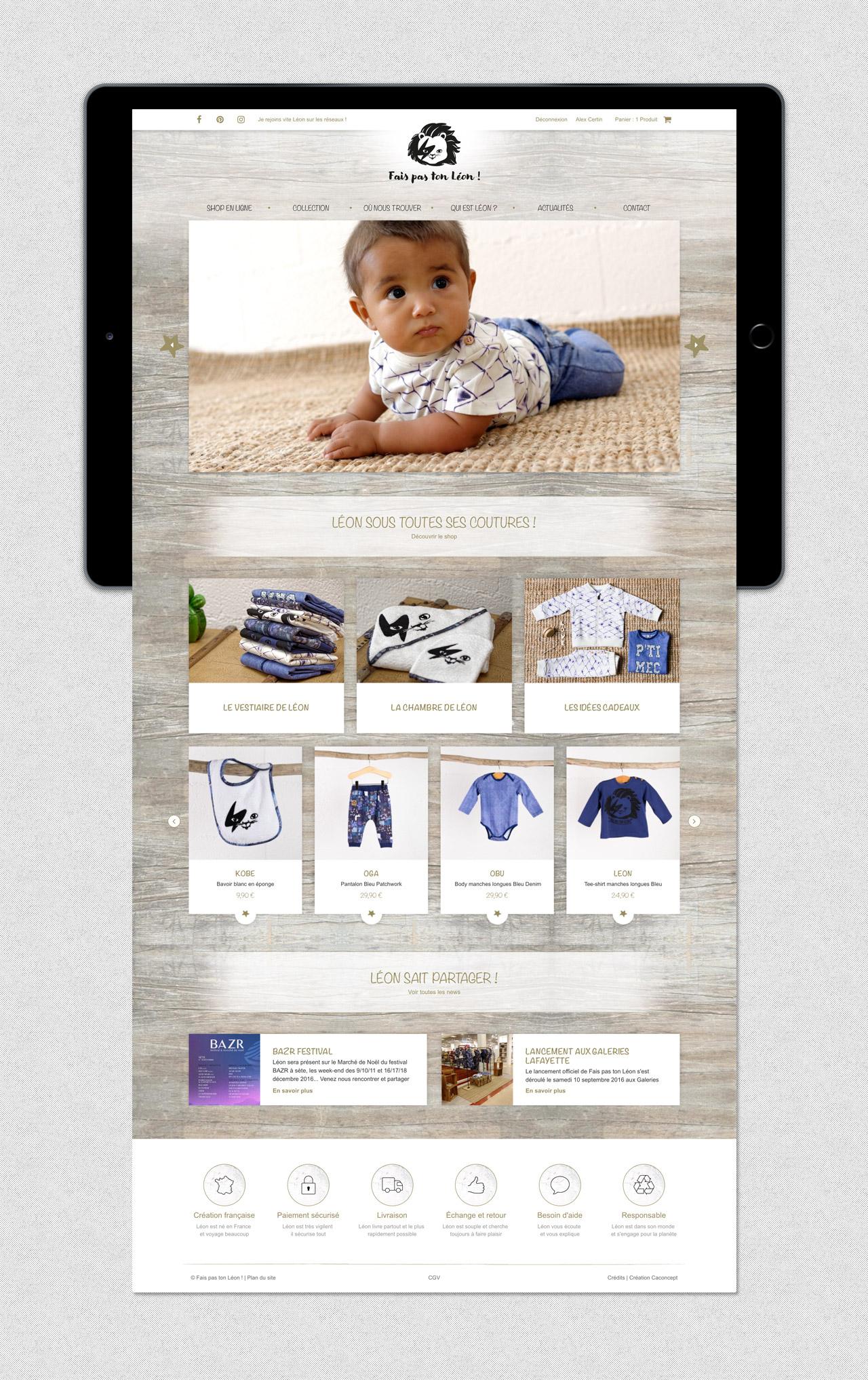 faispastonleon-creation-site-e-commerce-page-accueil-vetements-enfants-caconcept-alexis-cretin-graphiste-montpellier