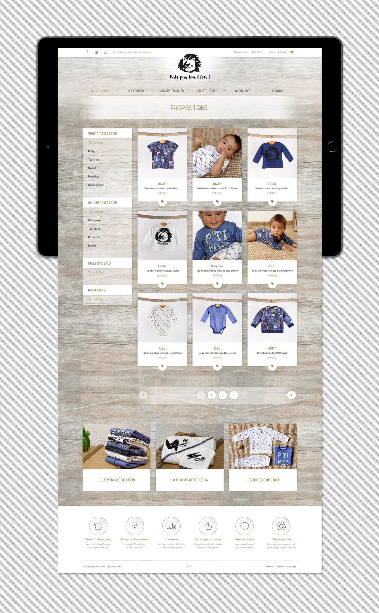 faispastonleon-creation-site-e-commerce-page-categorie-vetements-enfants-caconcept-alexis-cretin-graphiste-montpellier