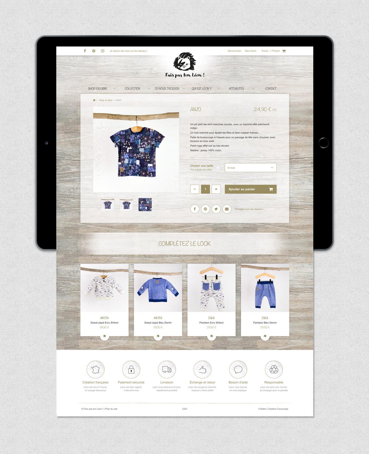 faispastonleon-creation-site-e-commerce-page-produit-vetements-enfants-caconcept-alexis-cretin-graphiste-montpellier