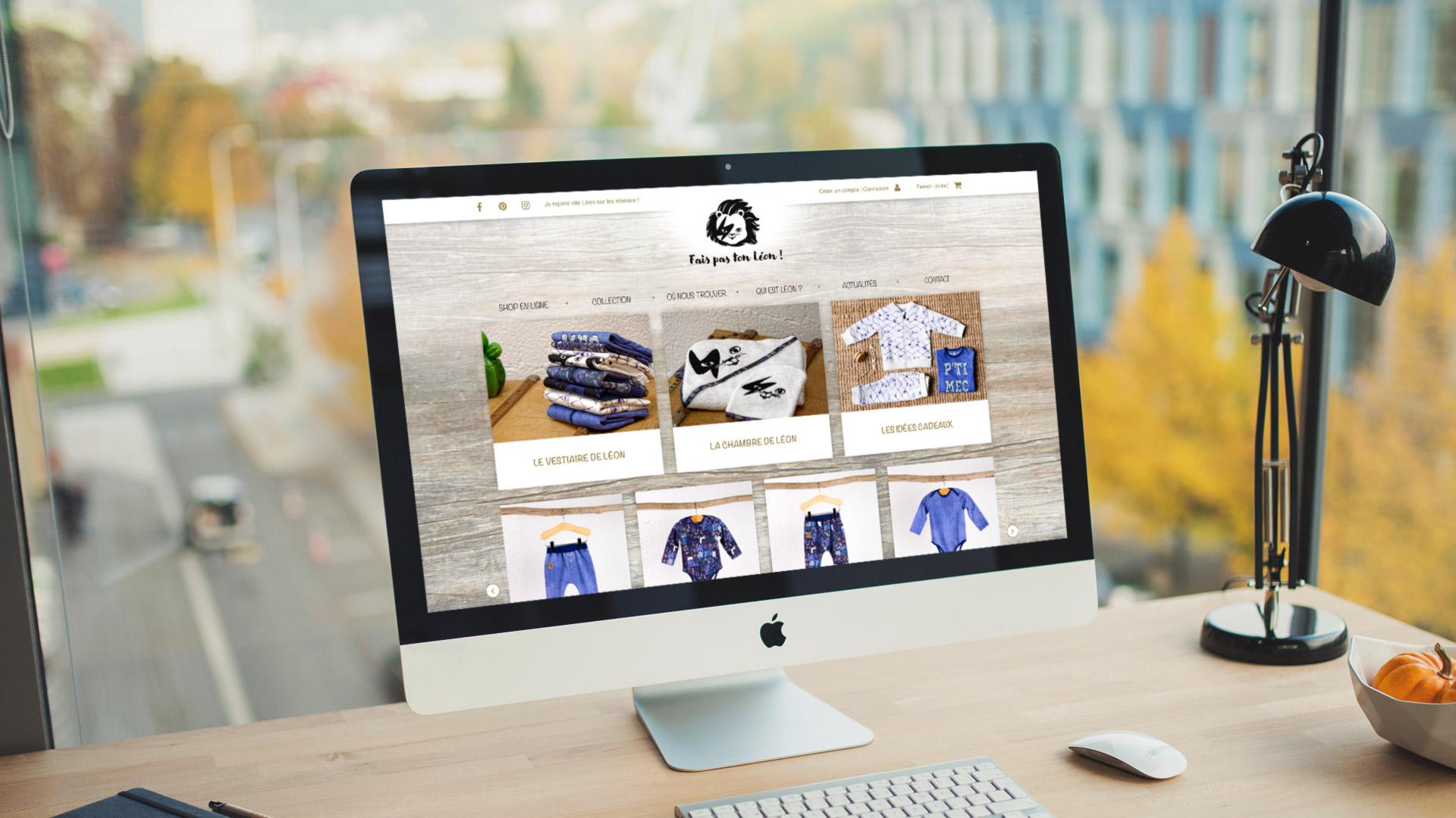 Création site e-commerce vêtement enfant