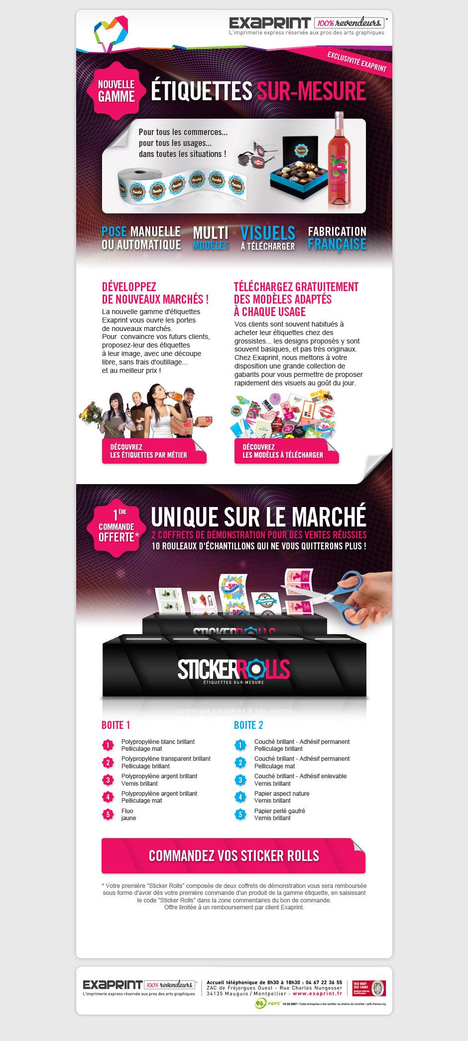 Graphiste Montpellier Creation Exaprint Etiquettes Sticker Rolls Agence