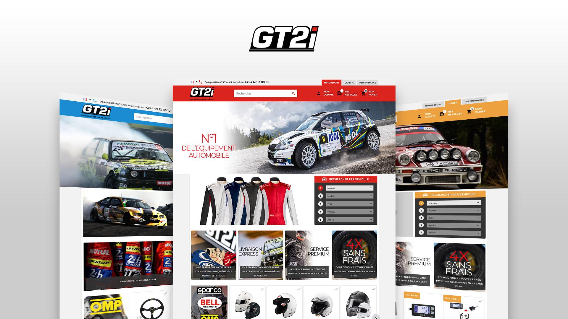 Boutique site ecommerce vente accessoires competition automobile
