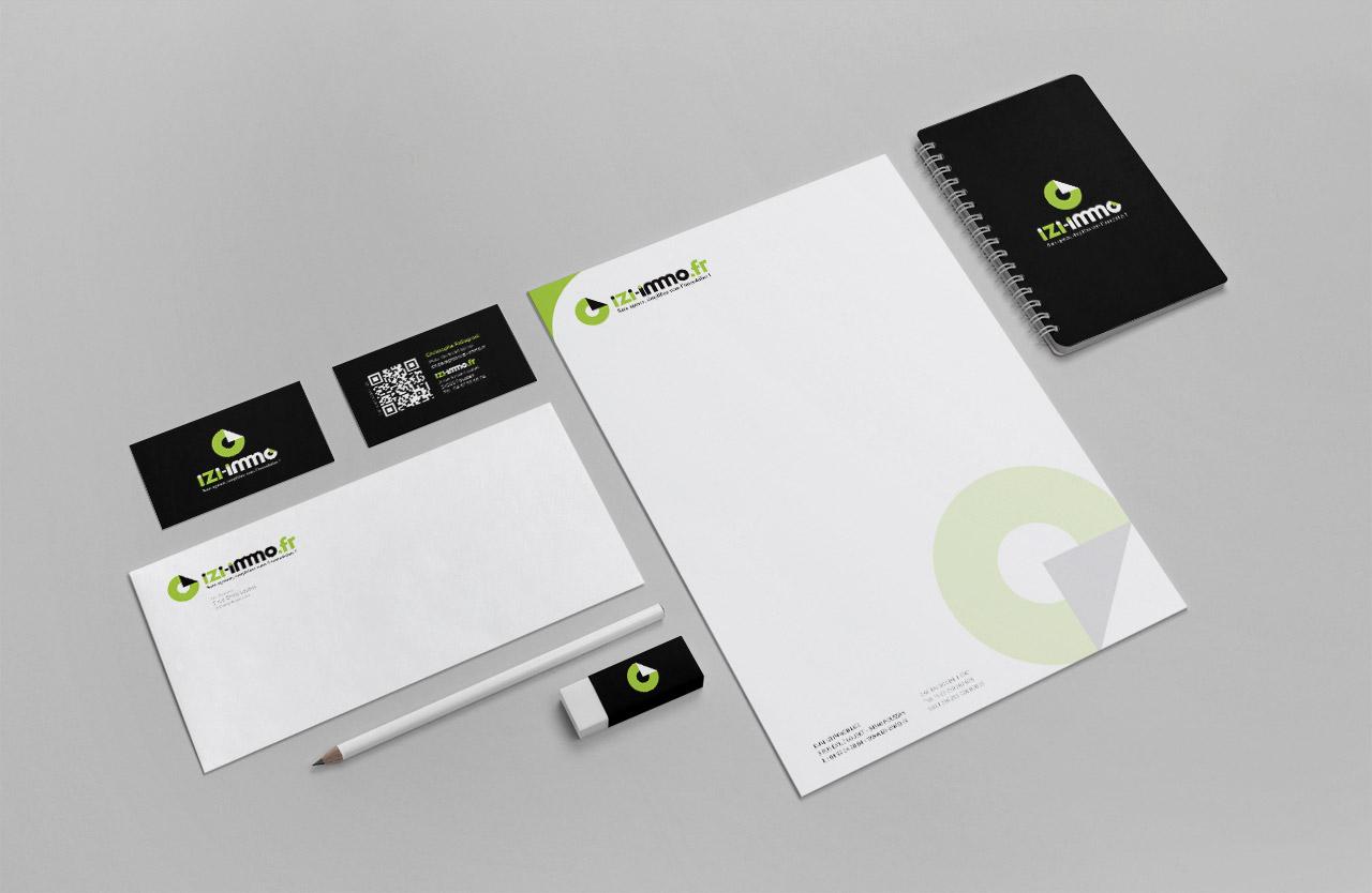 izi-immobilier-carte-enveloppe-entete-creation-communication-caconcept-alexis-cretin-graphiste