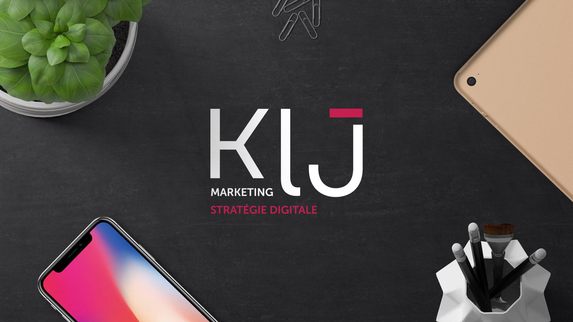 Création logo identité visuelle agence marketing stratégie digitale Montpellier KLJ