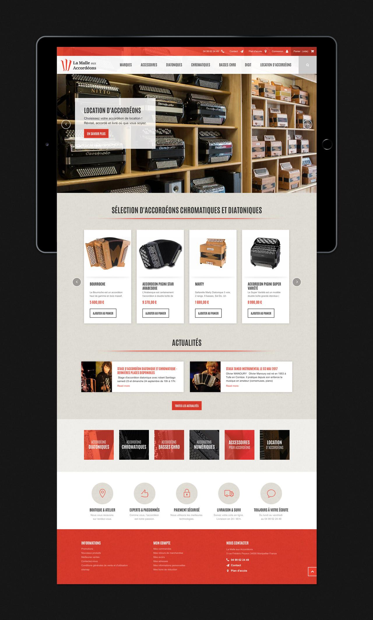Création site e-commerce page home accueil Montpellier
