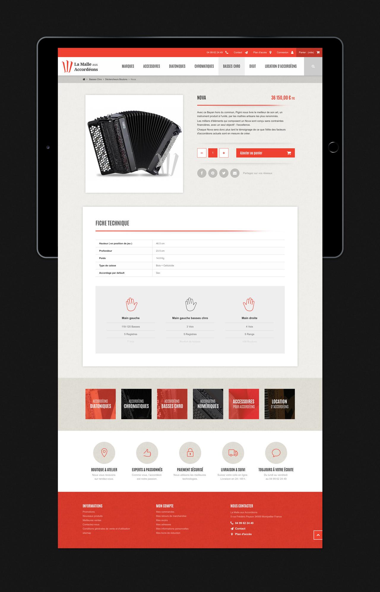 Création site e-commerce page produit Montpellier