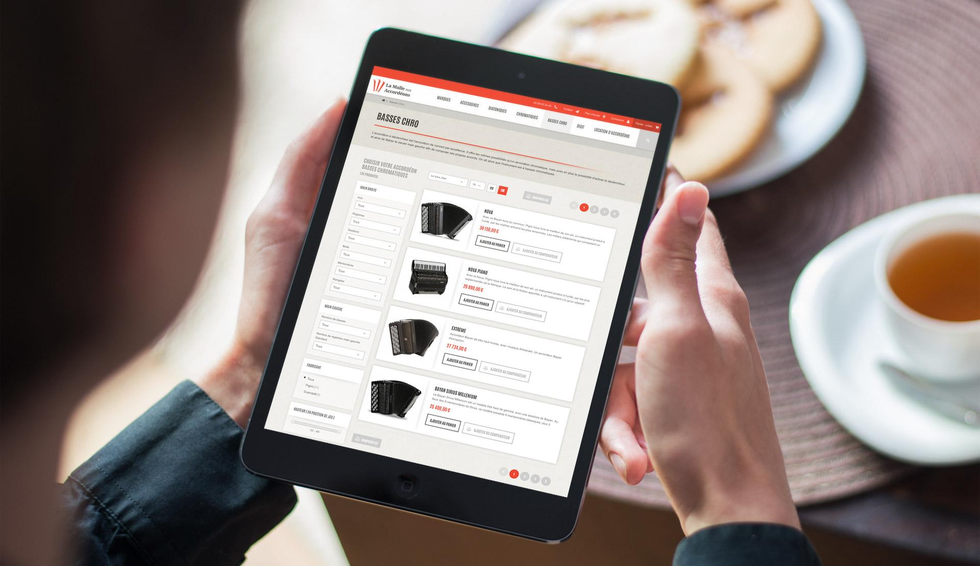 Création site ecommerce responsive design Montpellier