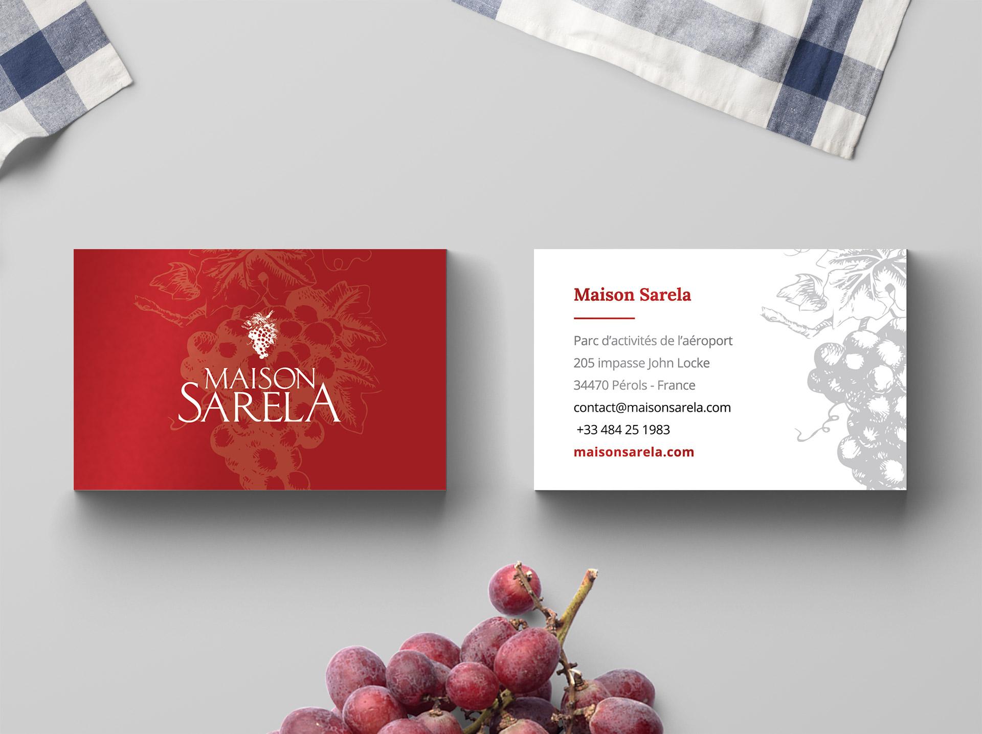 Creation carte de visite producteur vin viticulteur Sud France