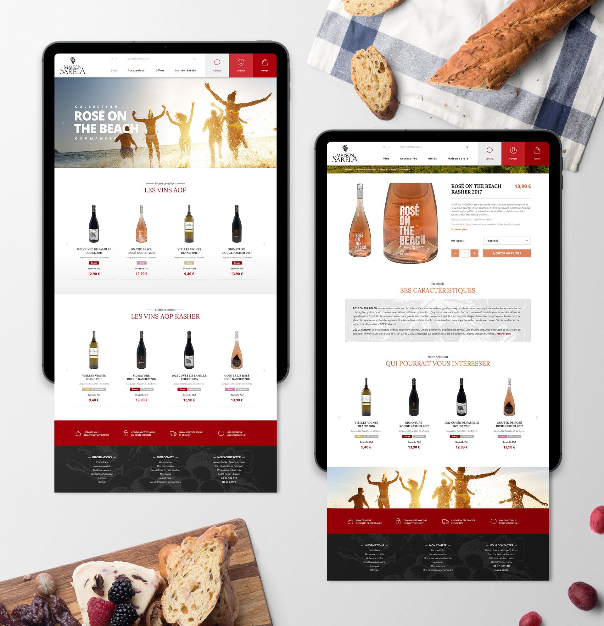 Creation site web e-commerce vente vins AOP Montpellier