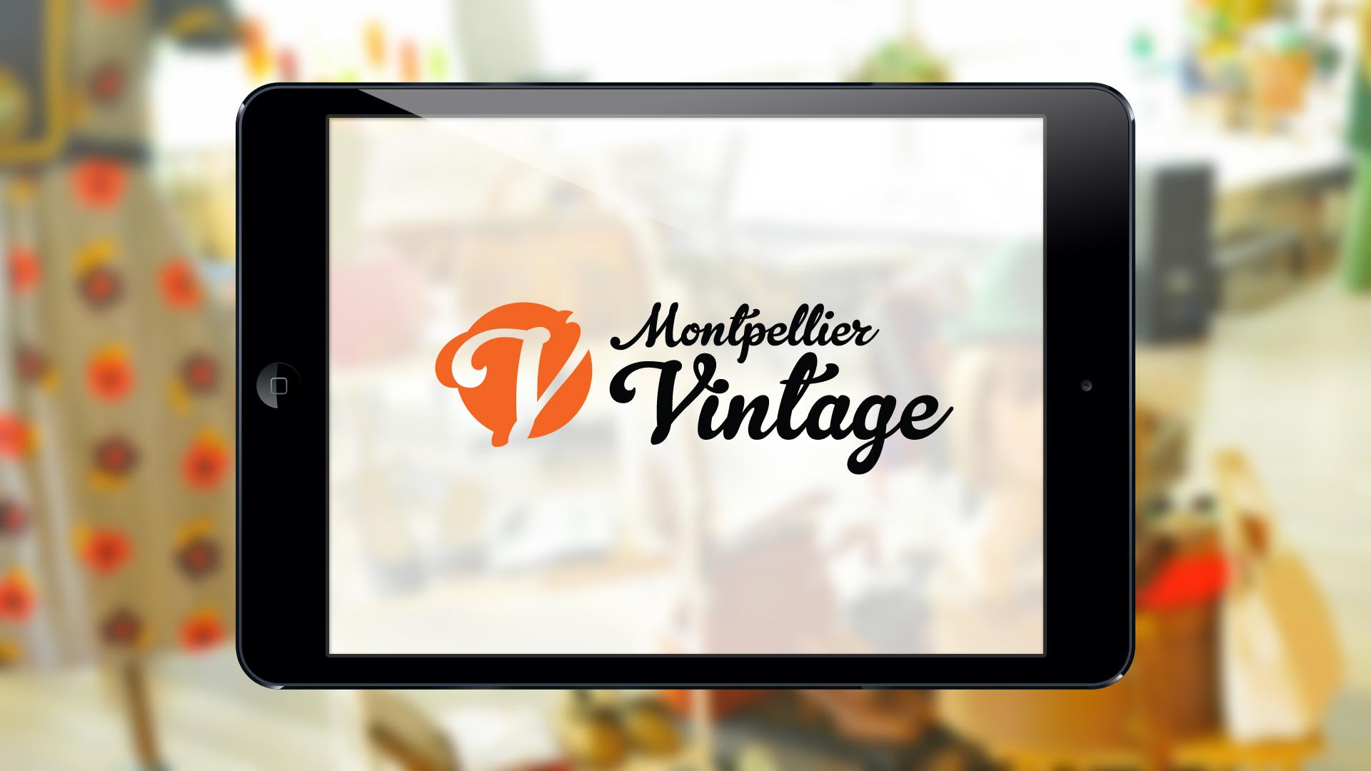 Création logo Montpellier Vintage