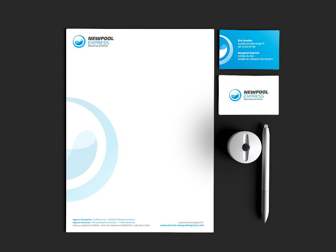 Newpoolexpress Creation Carte Visite Papier Papeterie Caconcept Alexis