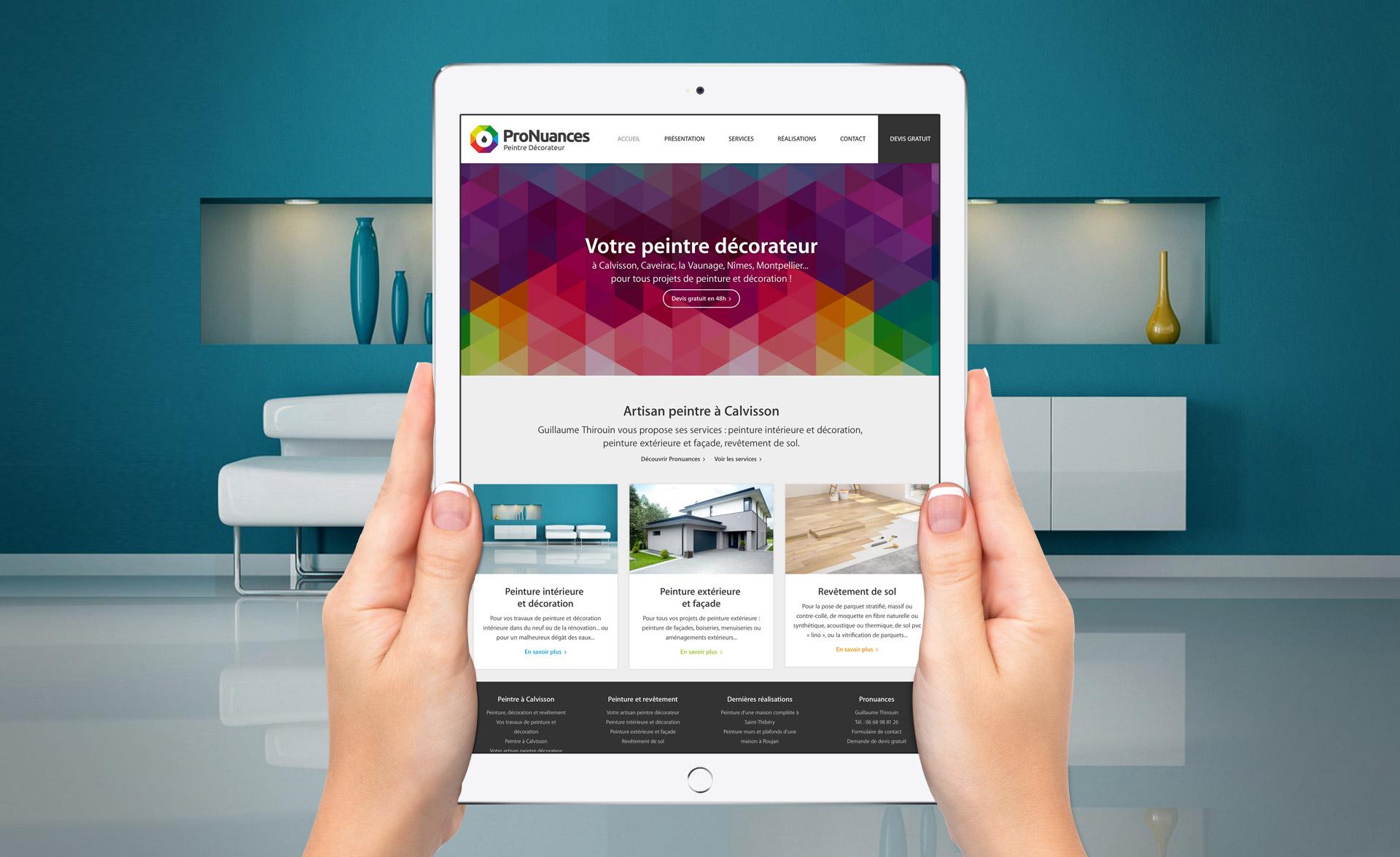 création site internet peintre décorateur
