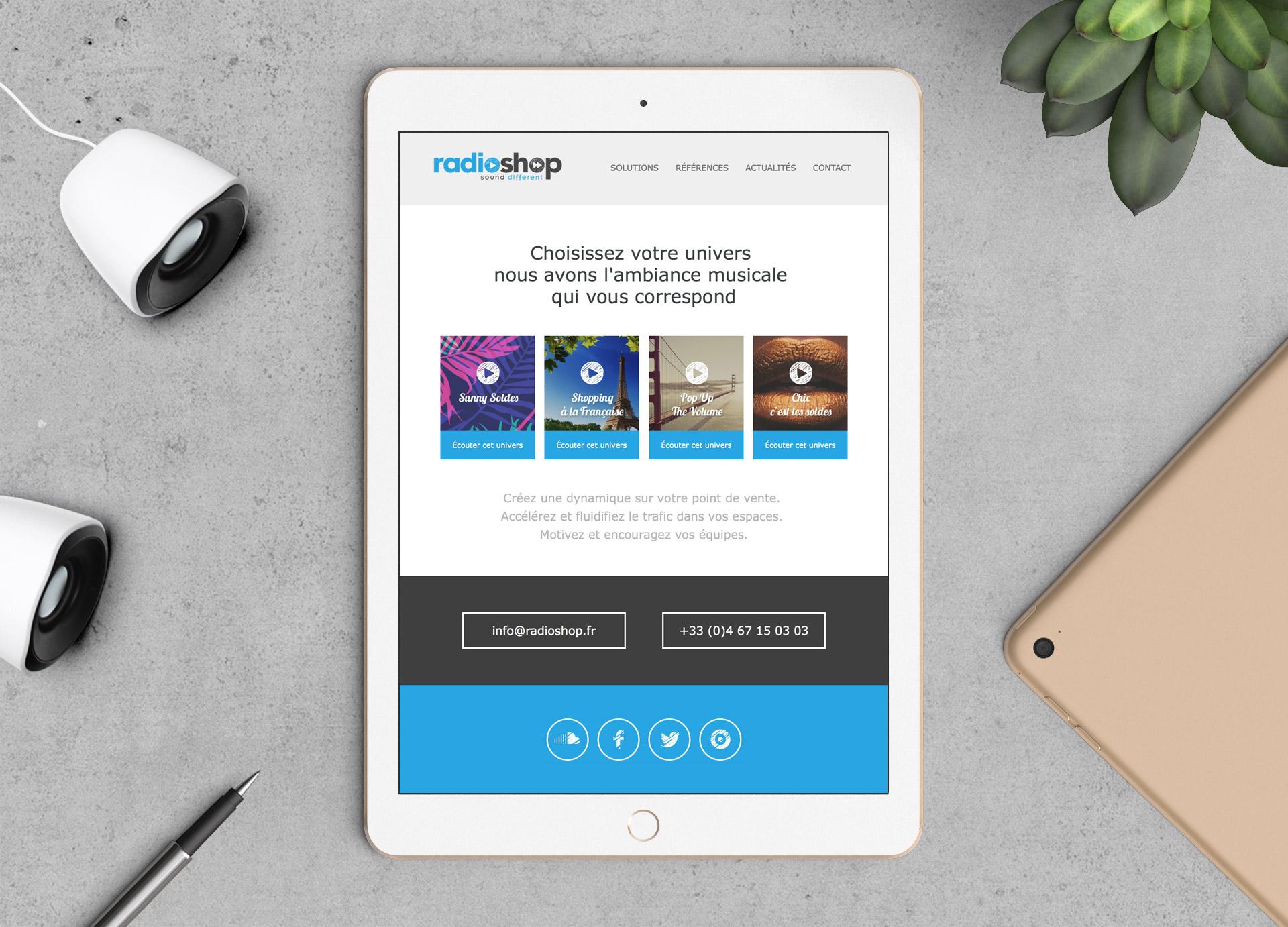 Création emailing newsletter Radioshop