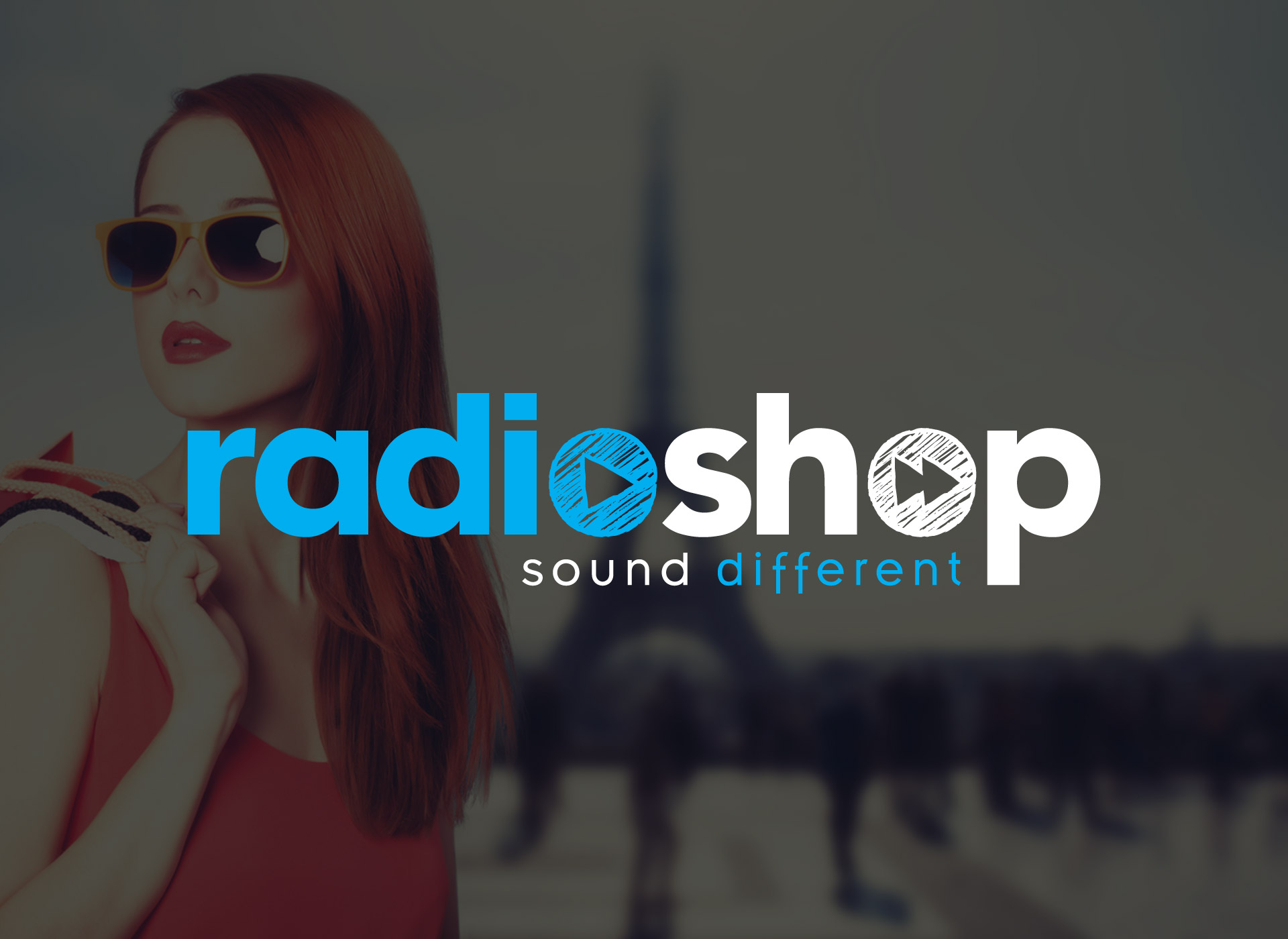 Radioshop création logo graphiste Montpellier