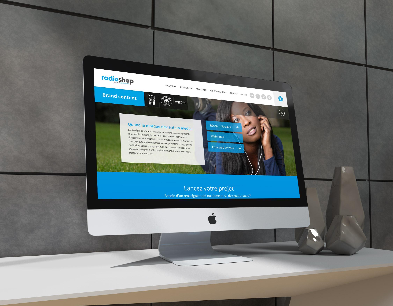 Création site internet responsive design Radioshop page solution