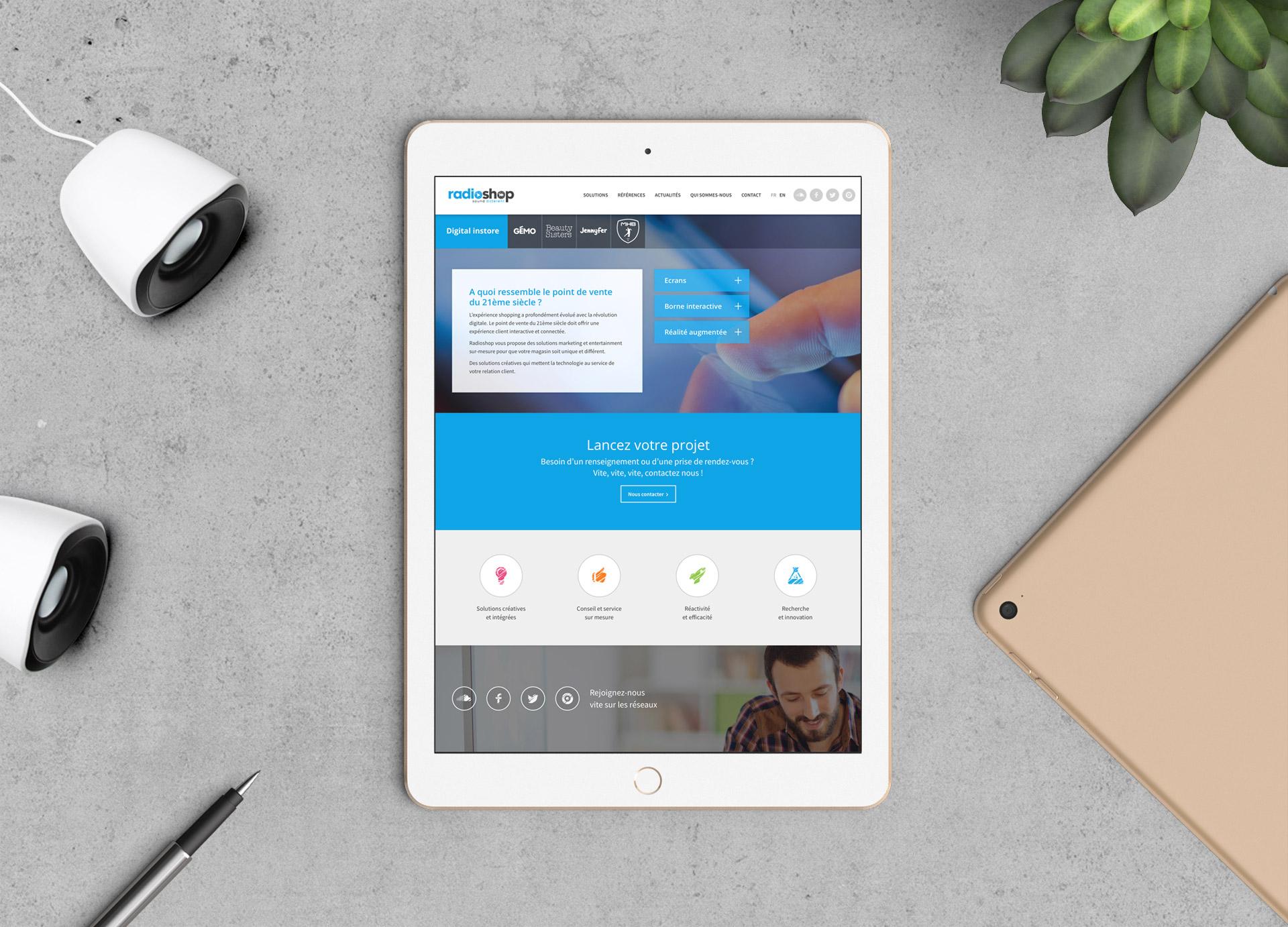 Création site mobile friendly agence communication sonore Paris Montpellier