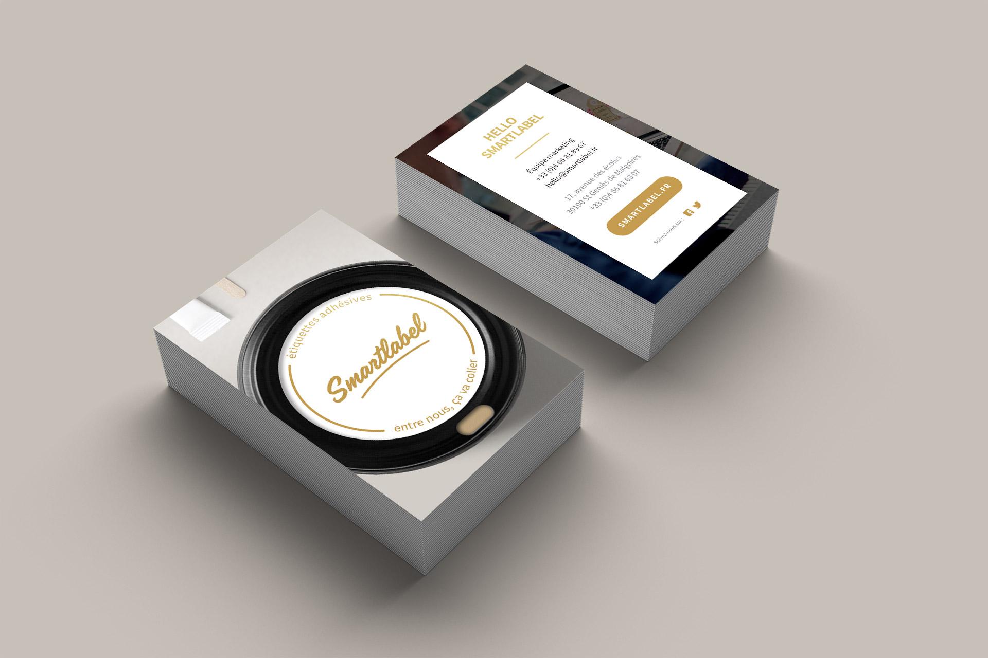 Création carte visite imprimeur étiquettes adhésives