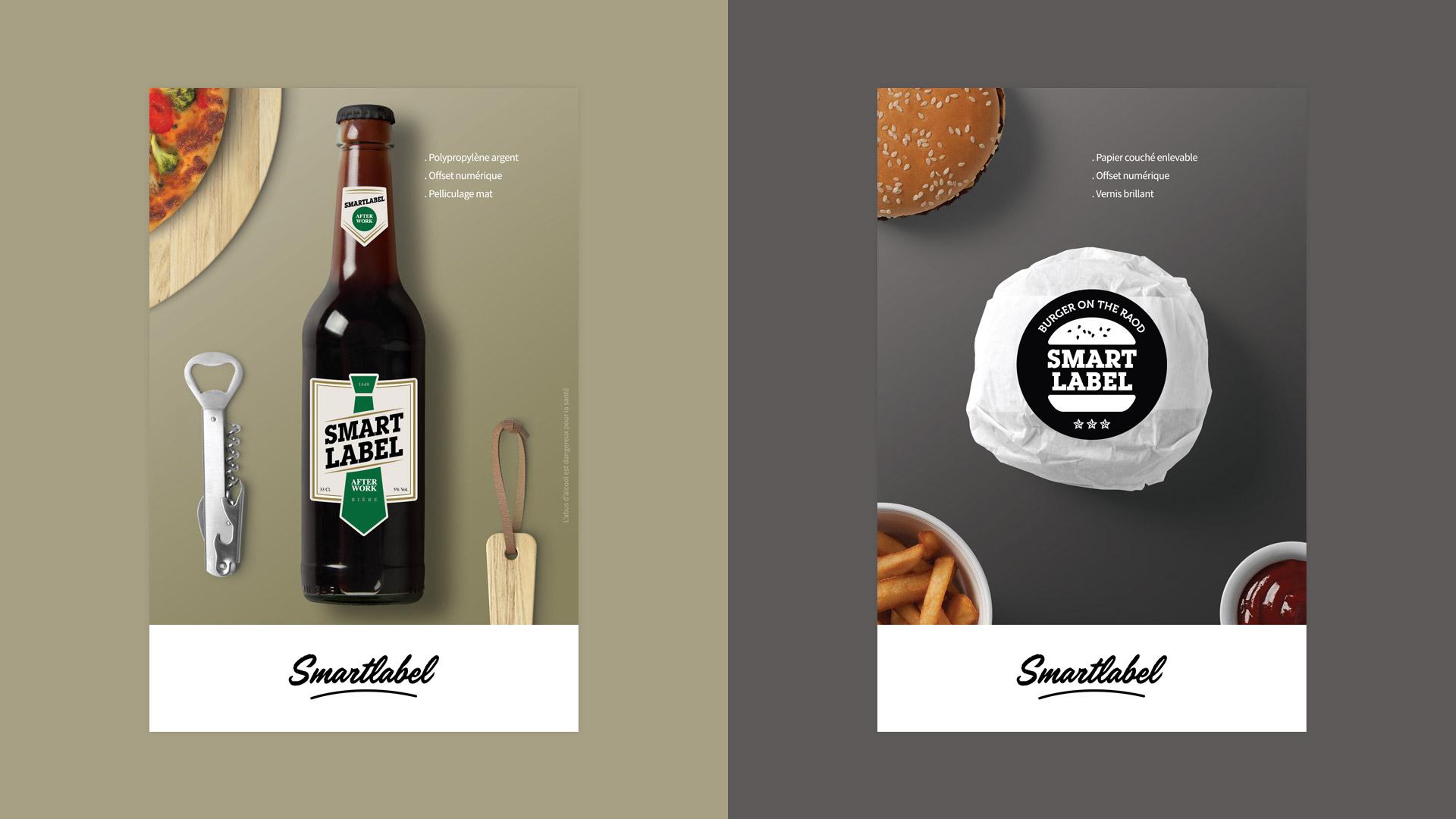 Création étiquettes bière burger nuancier échantillon