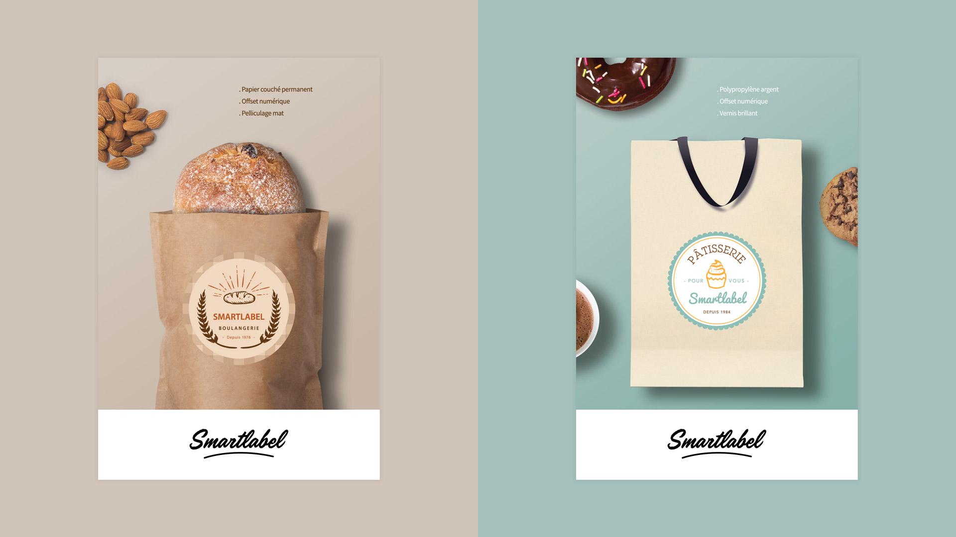 Création étiquettes boulangerie patisserie
